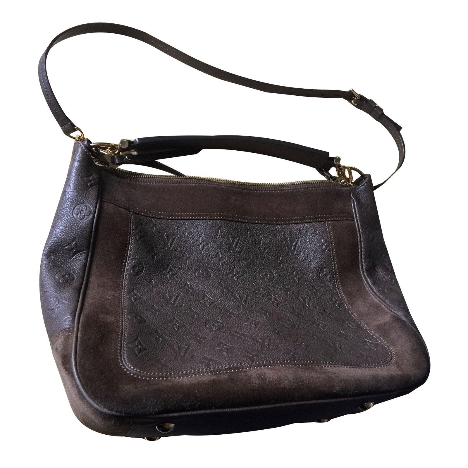 Hampstead Pre Owned >> Louis Vuitton AUDACIEUSE Handbags Leather,Deerskin Brown ...