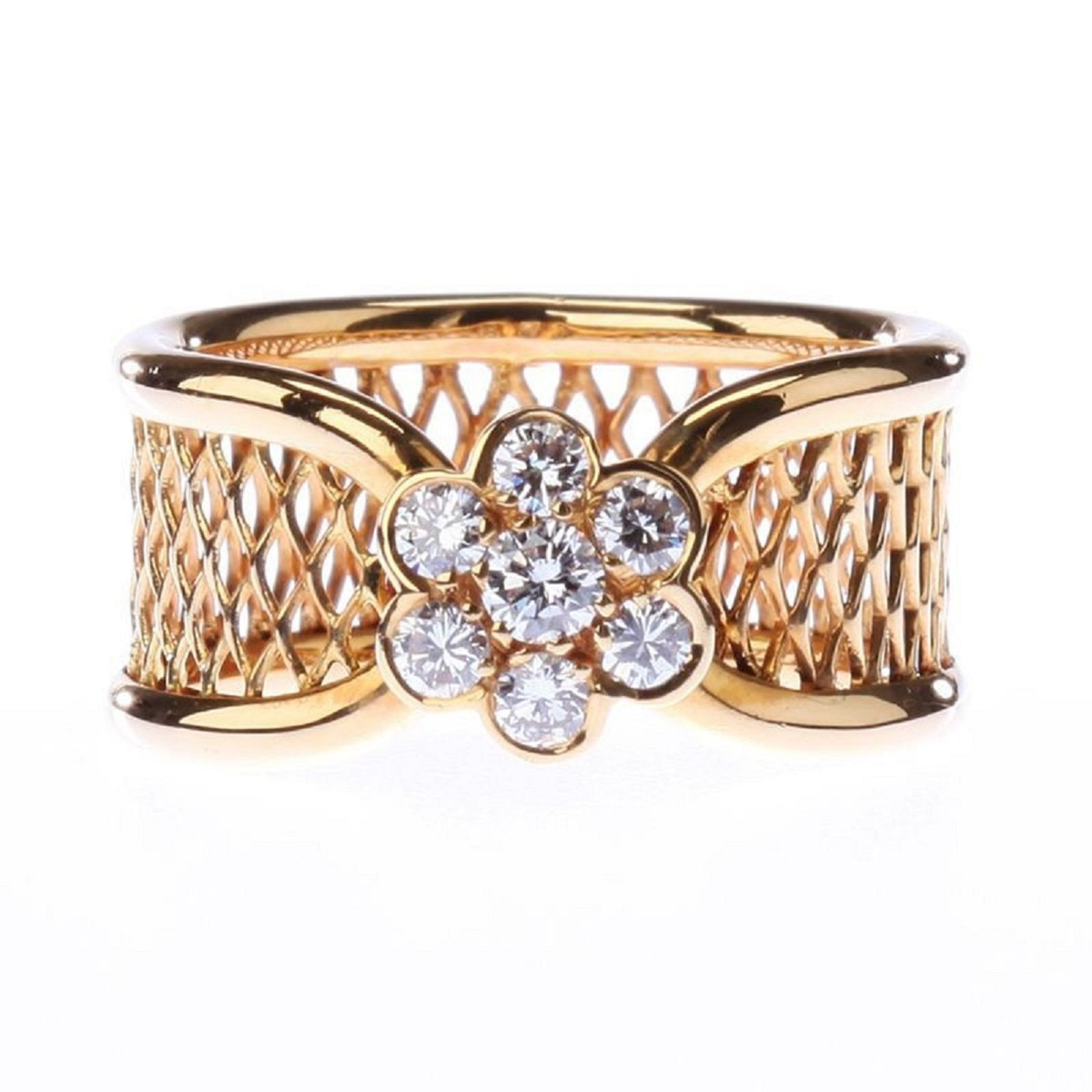 jewelry ring for j in id vca and basket rings arpels van as yellow at gold weave cleef band new l condition