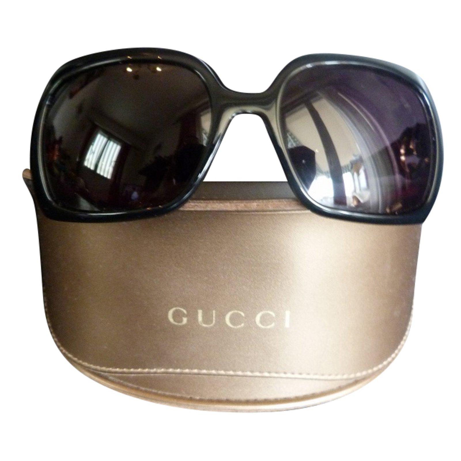 Lunettes Gucci Solaires Gucci acetate Noir ref.57518 - Joli Closet aa21e2b7a0f8