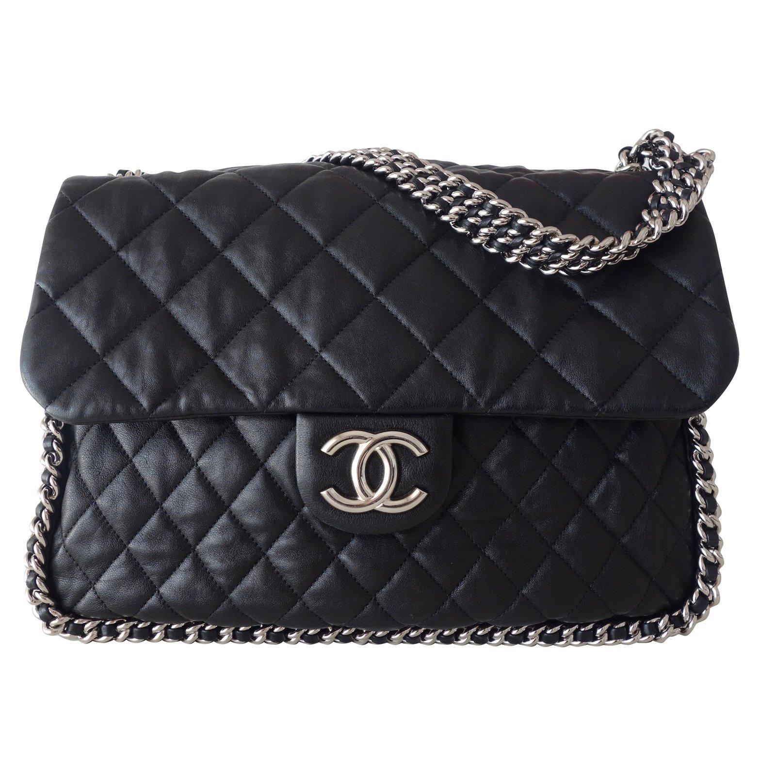 953934564f0f5b Chanel CHANEL JUMBO CHAIN AROUND Handbags Leather Black ref.57559 ...