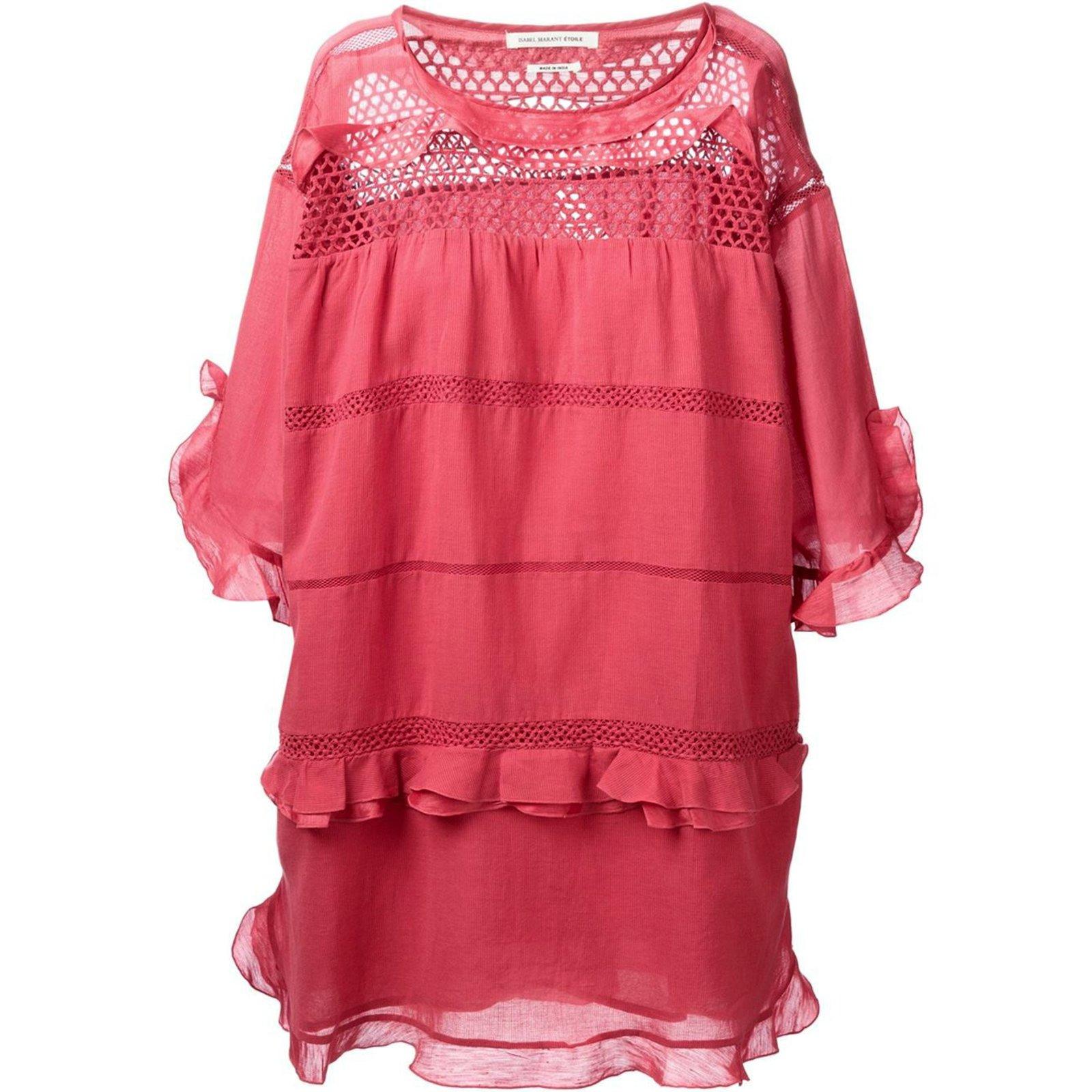 ef15a745b10 Isabel Marant Cassy Dresses Viscose Pink ref.57825 - Joli Closet