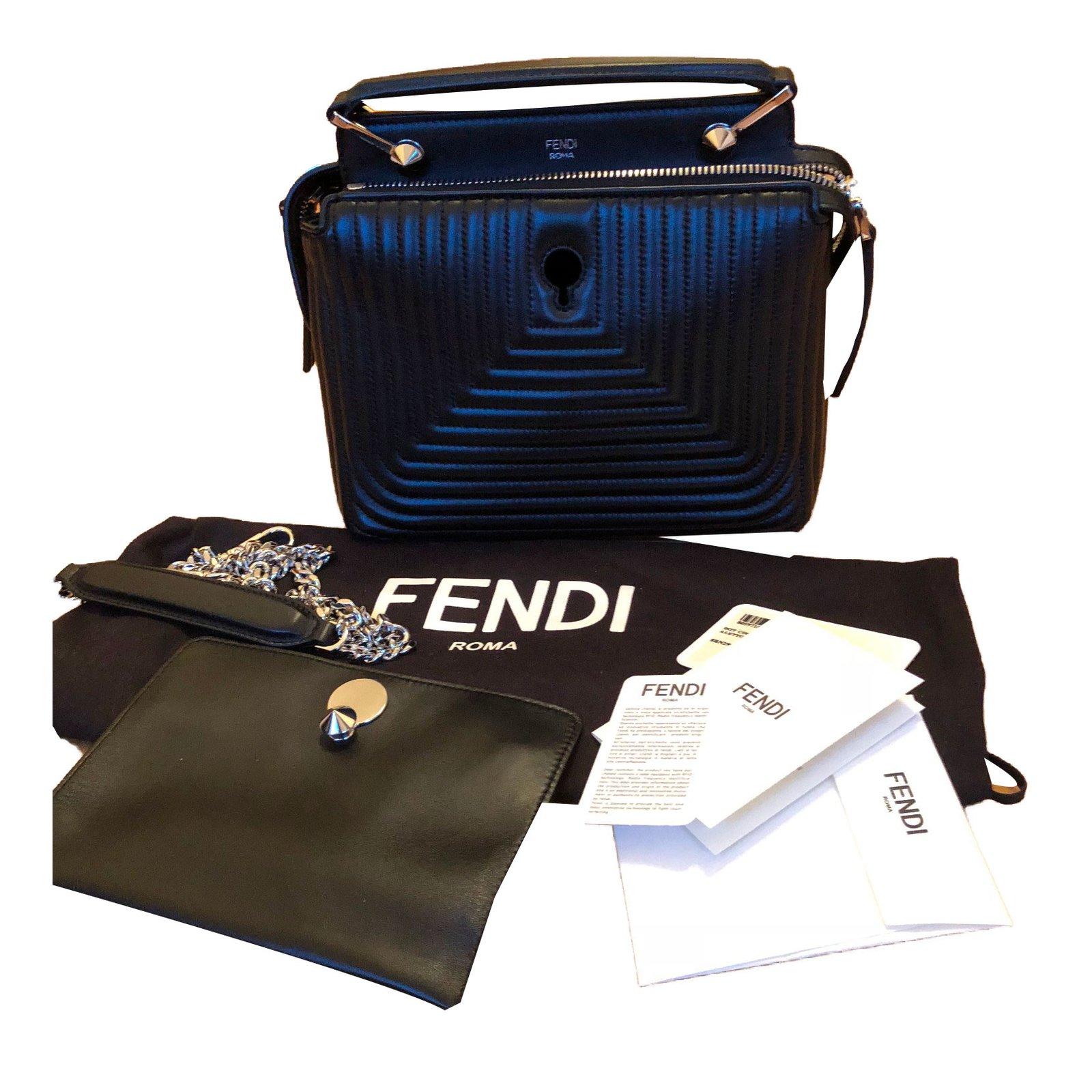 7938a641ee ... closeout fendi fendi black matelasse leather dotcom click bag in new  condition handbags leather black ref ...