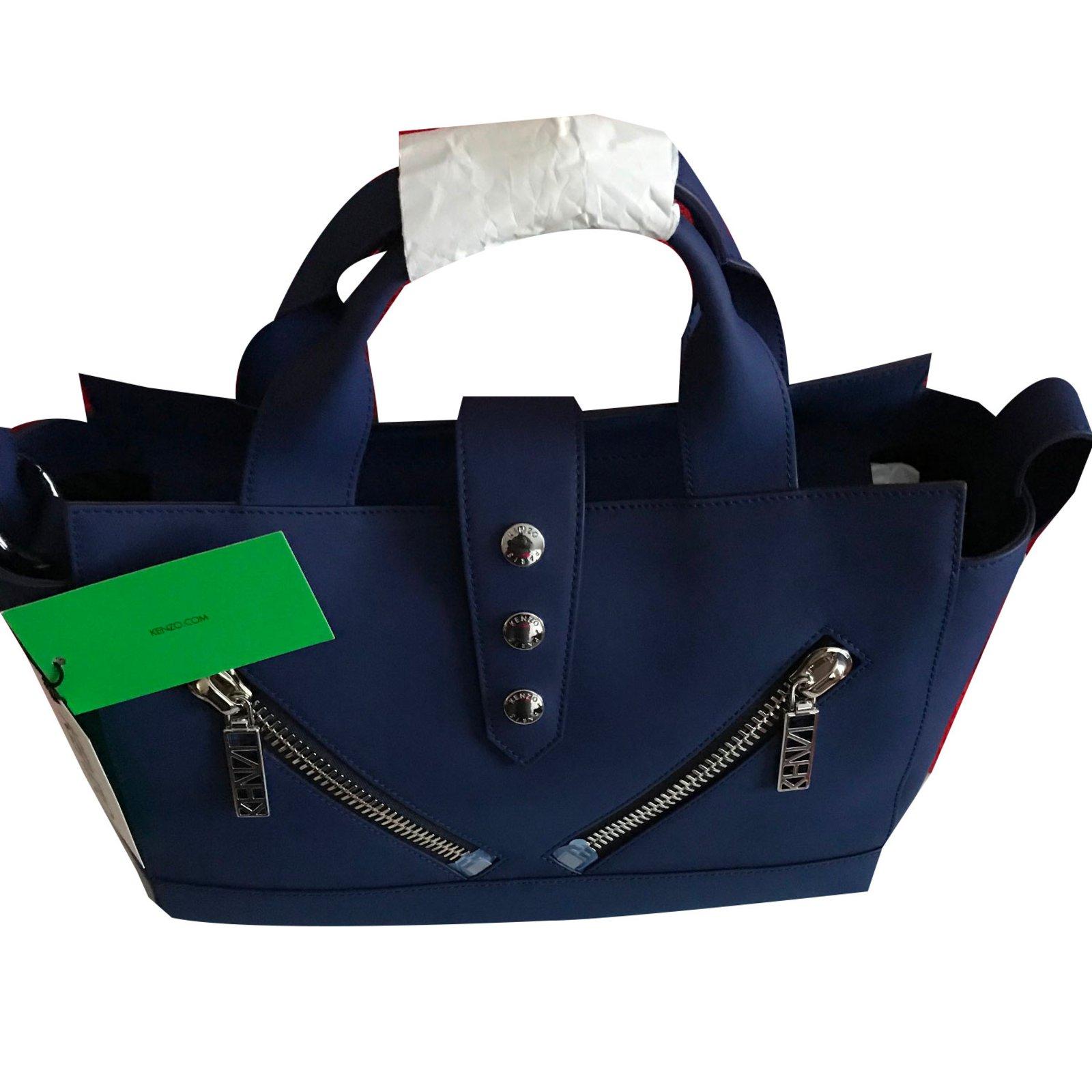97dfd15b Kenzo KENZO Kalifornia Medium Tote Bag - Blue Marine Handbags Leather Blue  ref.57952