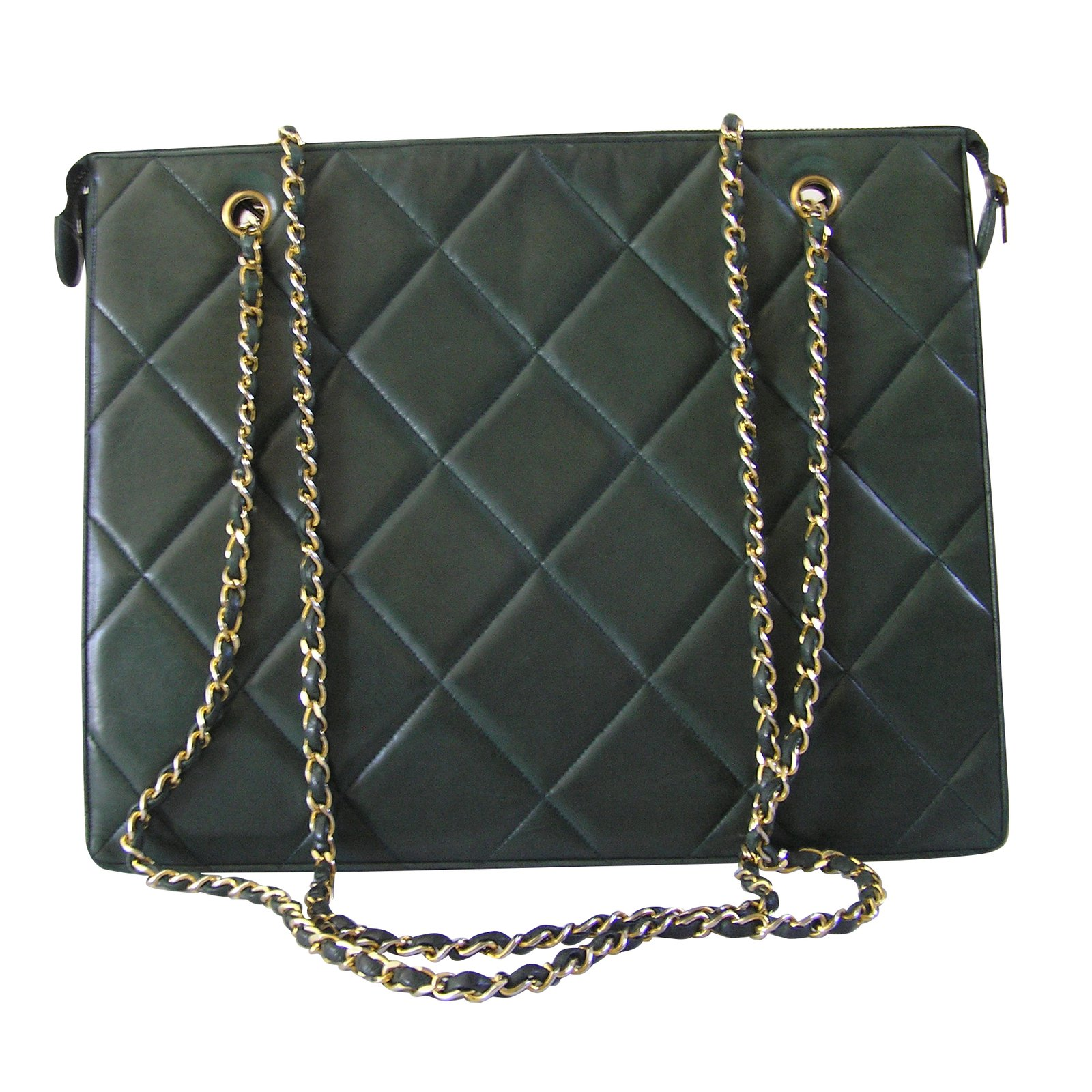 39b9b84d99b4b7 Chanel Handbags Handbags Leather Green ref.58061 - Joli Closet