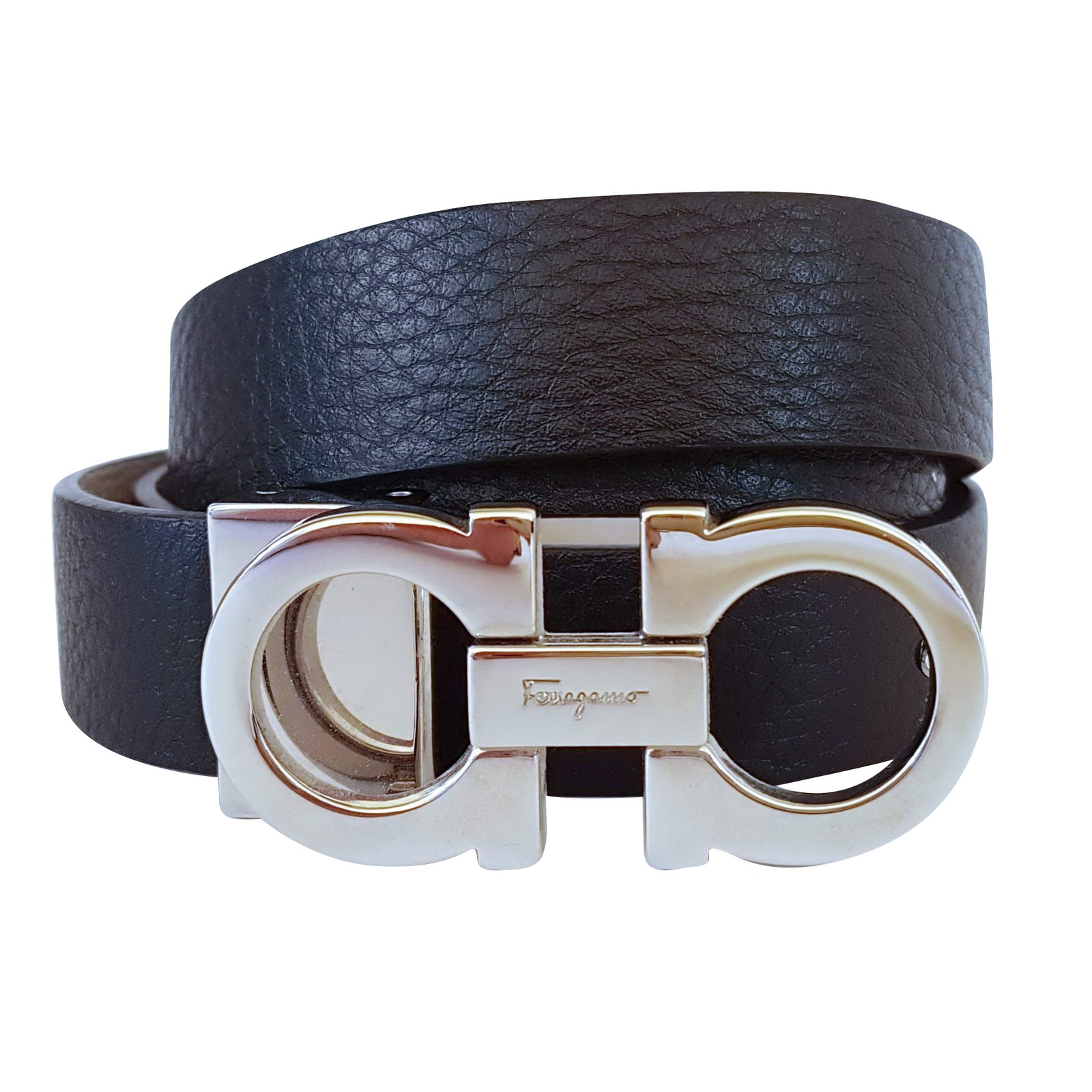 Salvatore Ferragamo Reversible Double Gancio Belt Belts ...