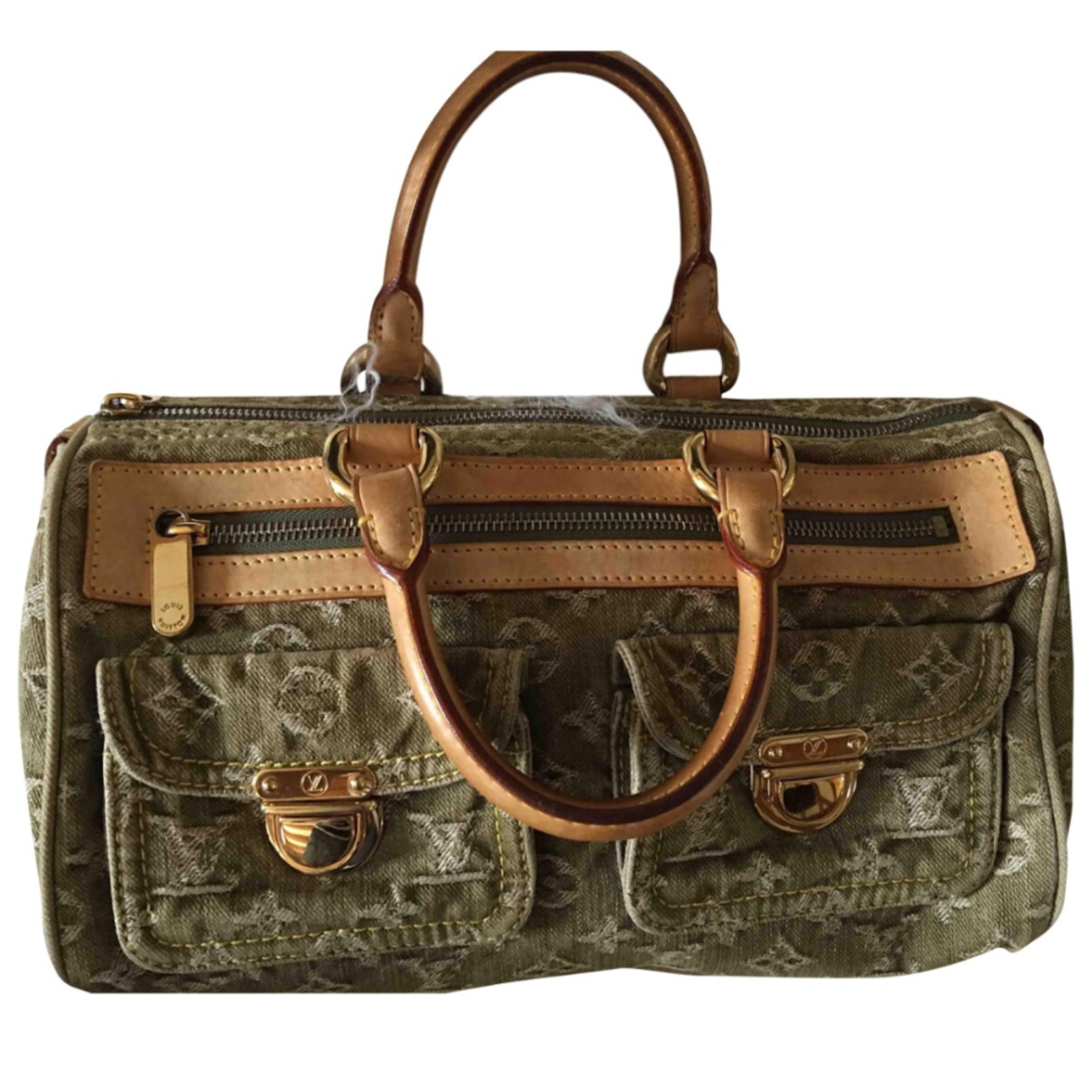 Louis Vuitton Néo speedy Handbags Denim Khaki ref.58171 - Joli Closet 1ce52286373