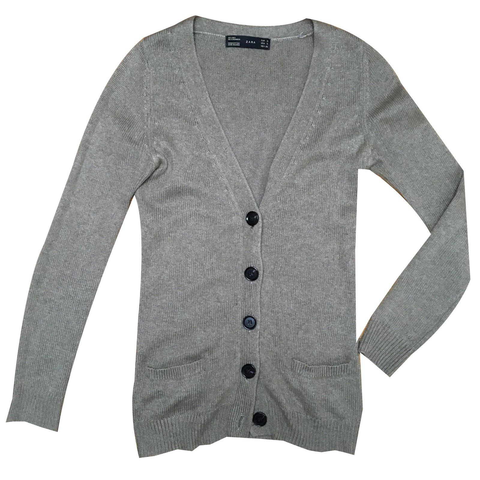 80bfccaa Zara Knitwear Knitwear Cashmere Beige ref.58218 - Joli Closet