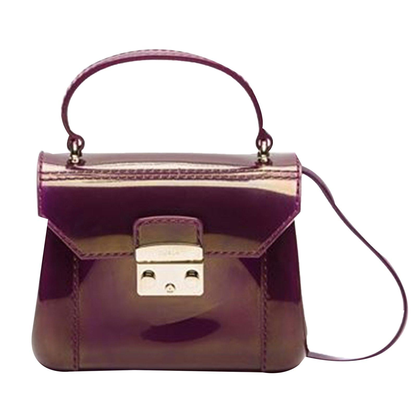 Furla Candy Handbags Plastic Purple Ref 58223