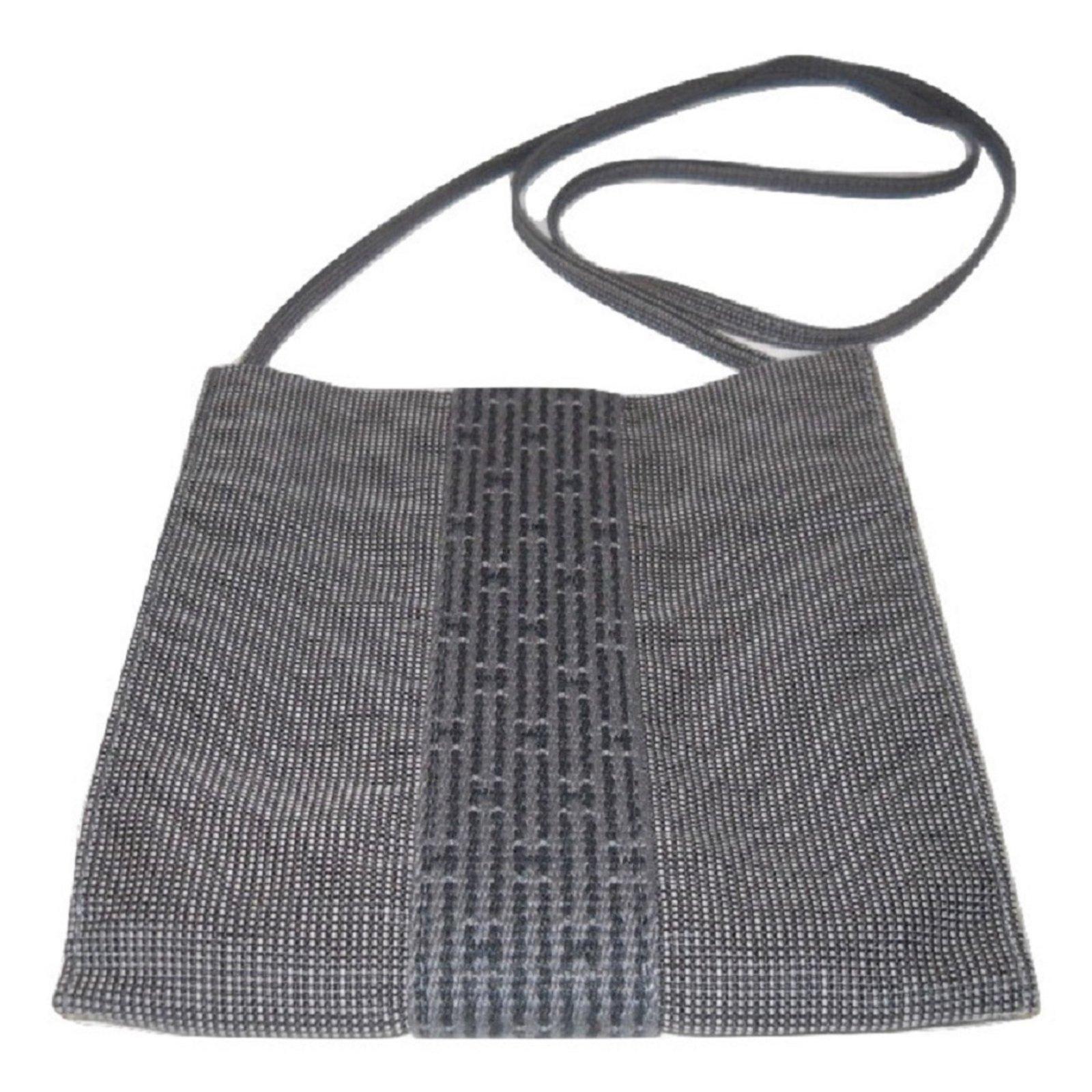 Sacs Hermès Sacoche Homme Herline nylon Gris ref.58417 - Joli Closet f2f74bbac7b