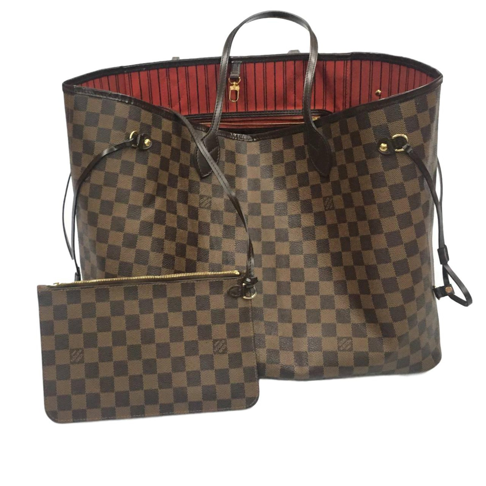 d070d814f1a7 Sacs à main Louis Vuitton neverfull gm Cuir Marron foncé ref.58441 .