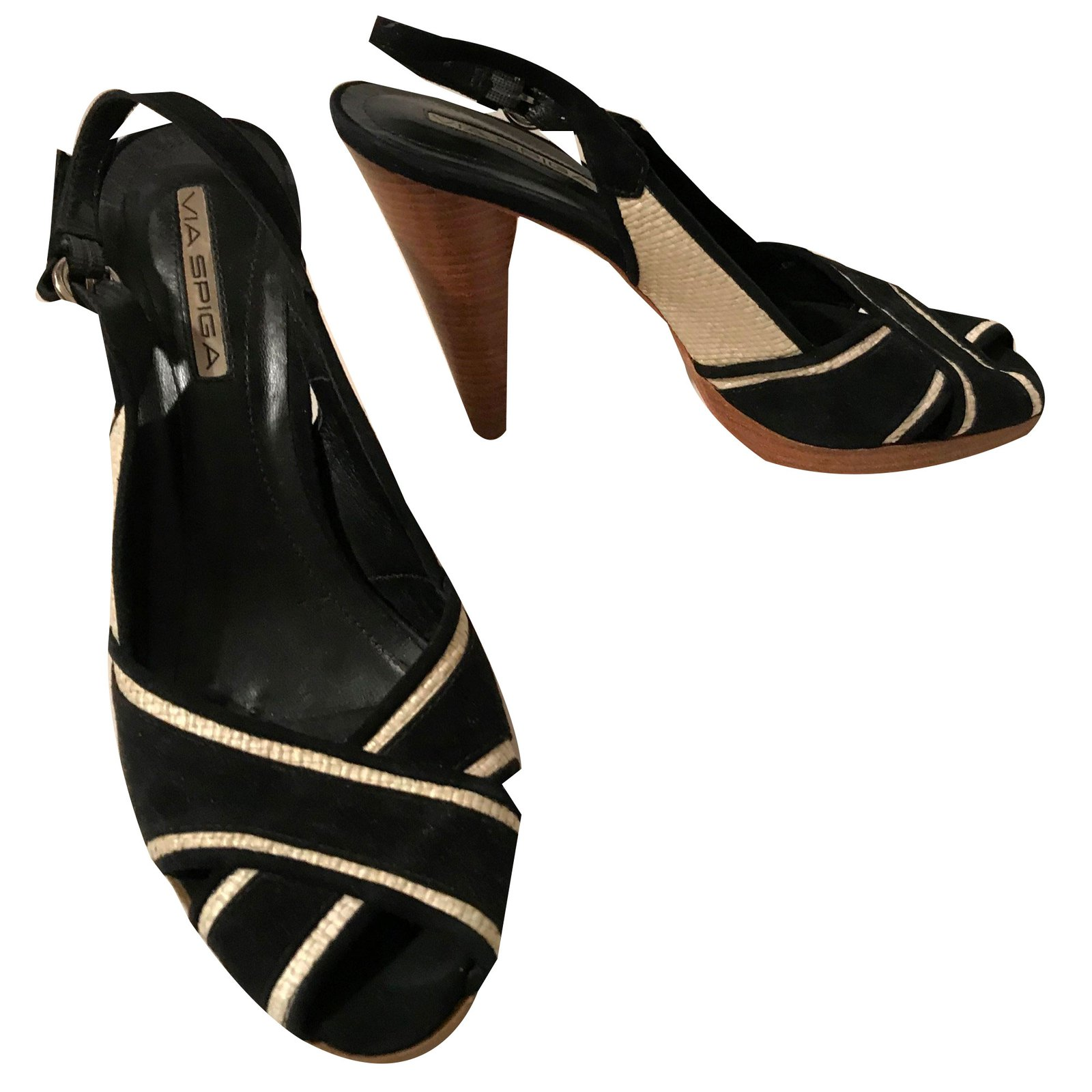 Autre Marque Via Spiga Sandals Straw