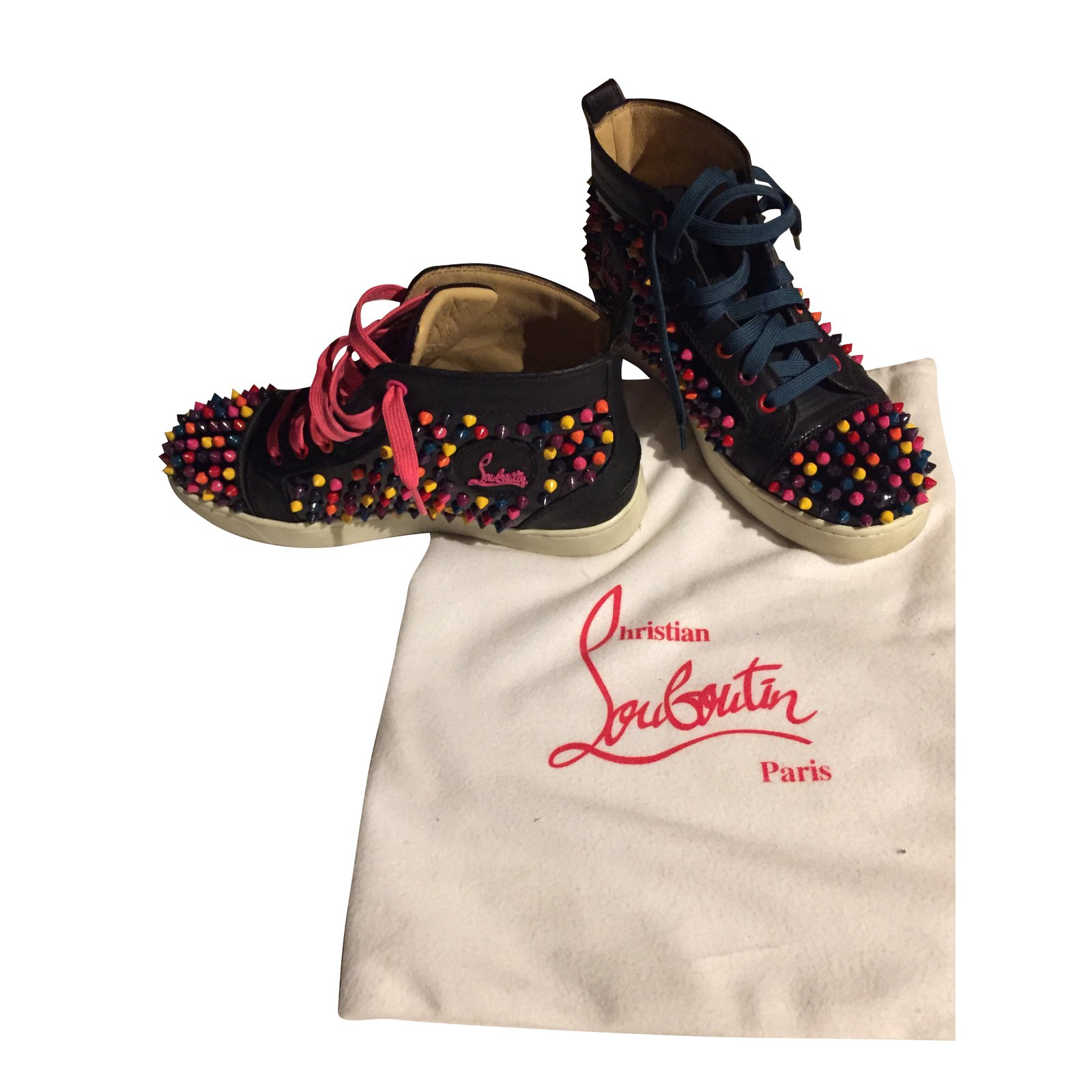 baskets louboutin noir