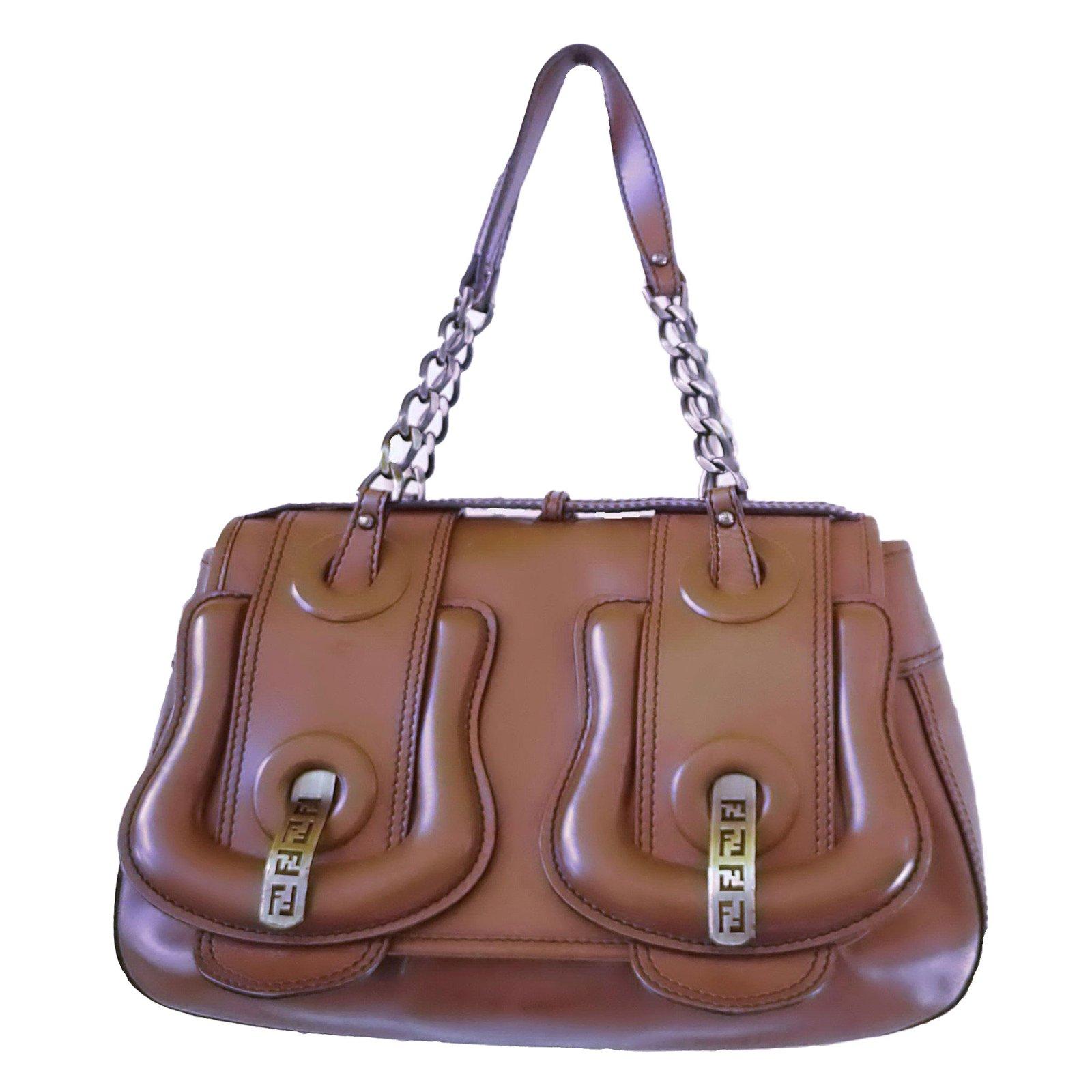 Fendi B Bag Handbags Leather Brown ref.58771 - Joli Closet 058ae8c057a6b