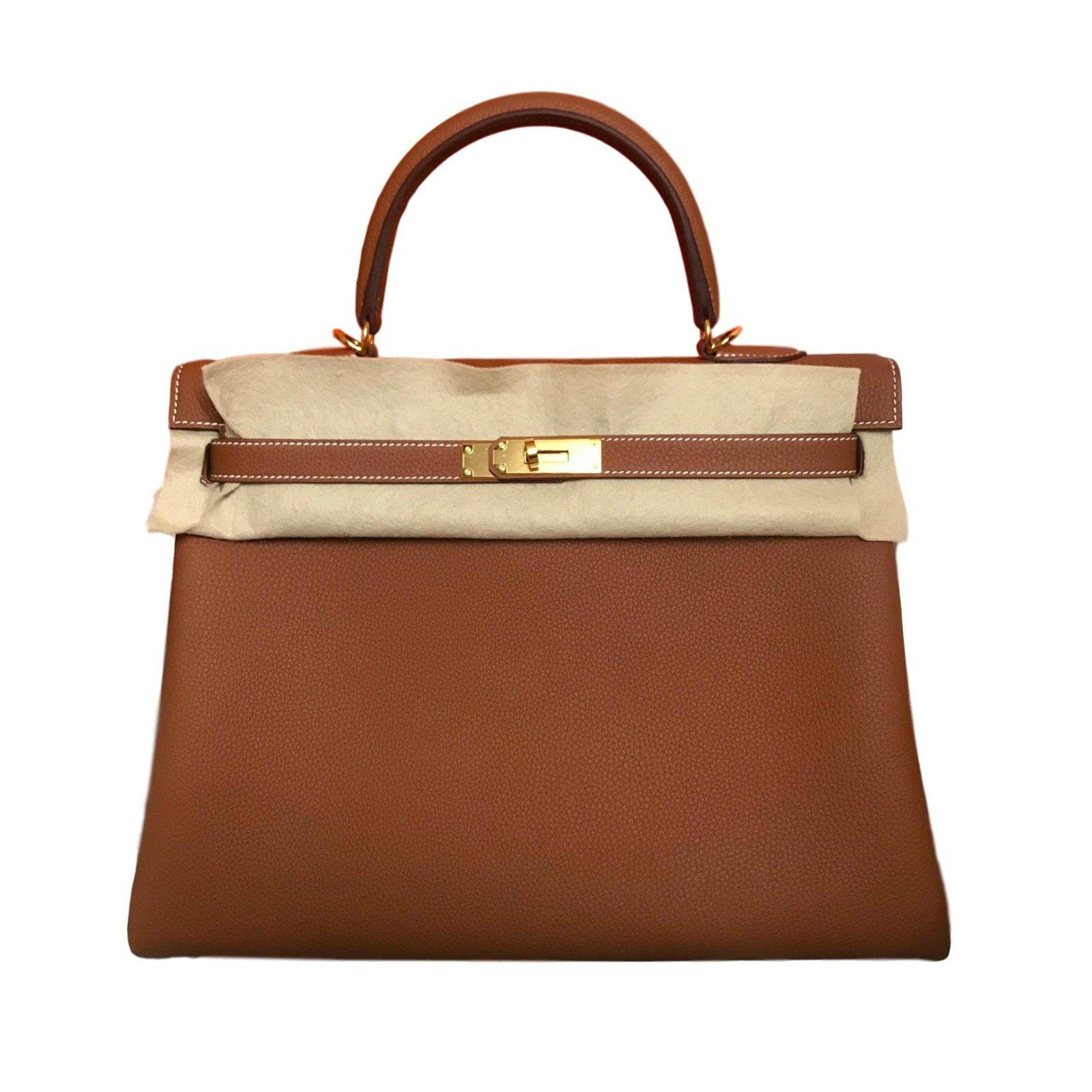 805ccbb145b5 Hermès Kelly 35 Handbags Leather Caramel ref.58814 - Joli Closet