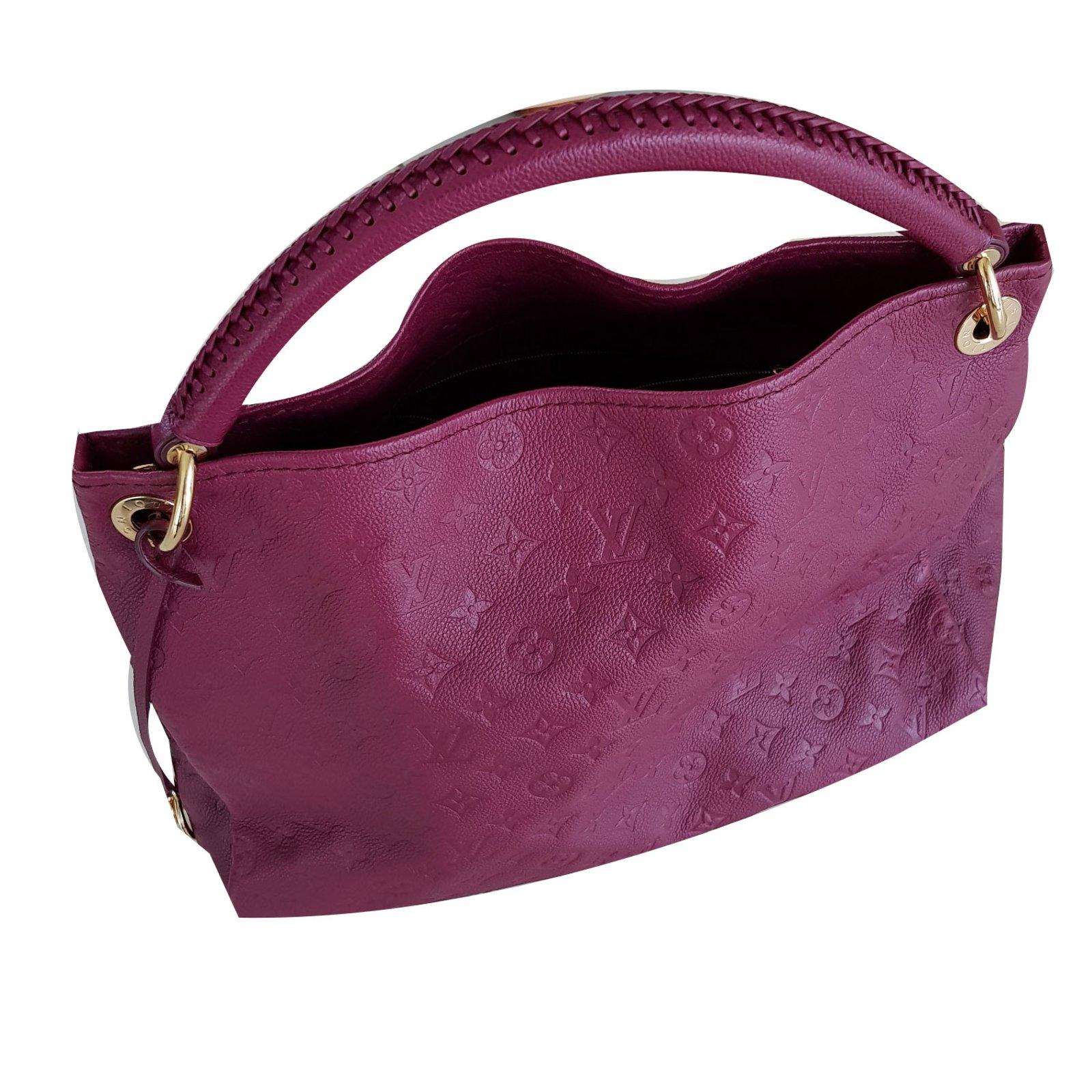 f5cd89037530 Louis Vuitton Artsy MM Handbags Leather Dark red ref.58890 - Joli Closet