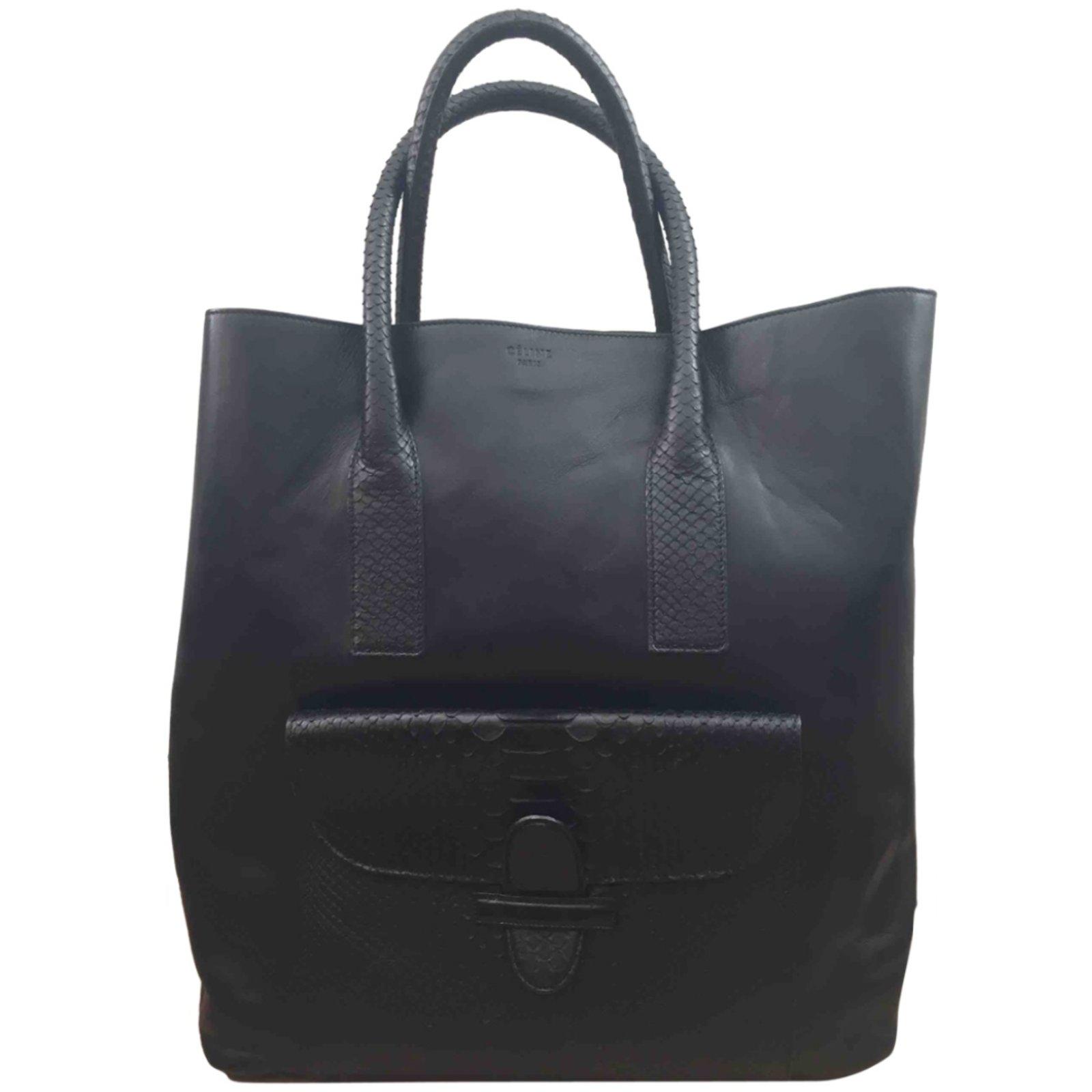 Céline Handbags Leather Black Ref 58935