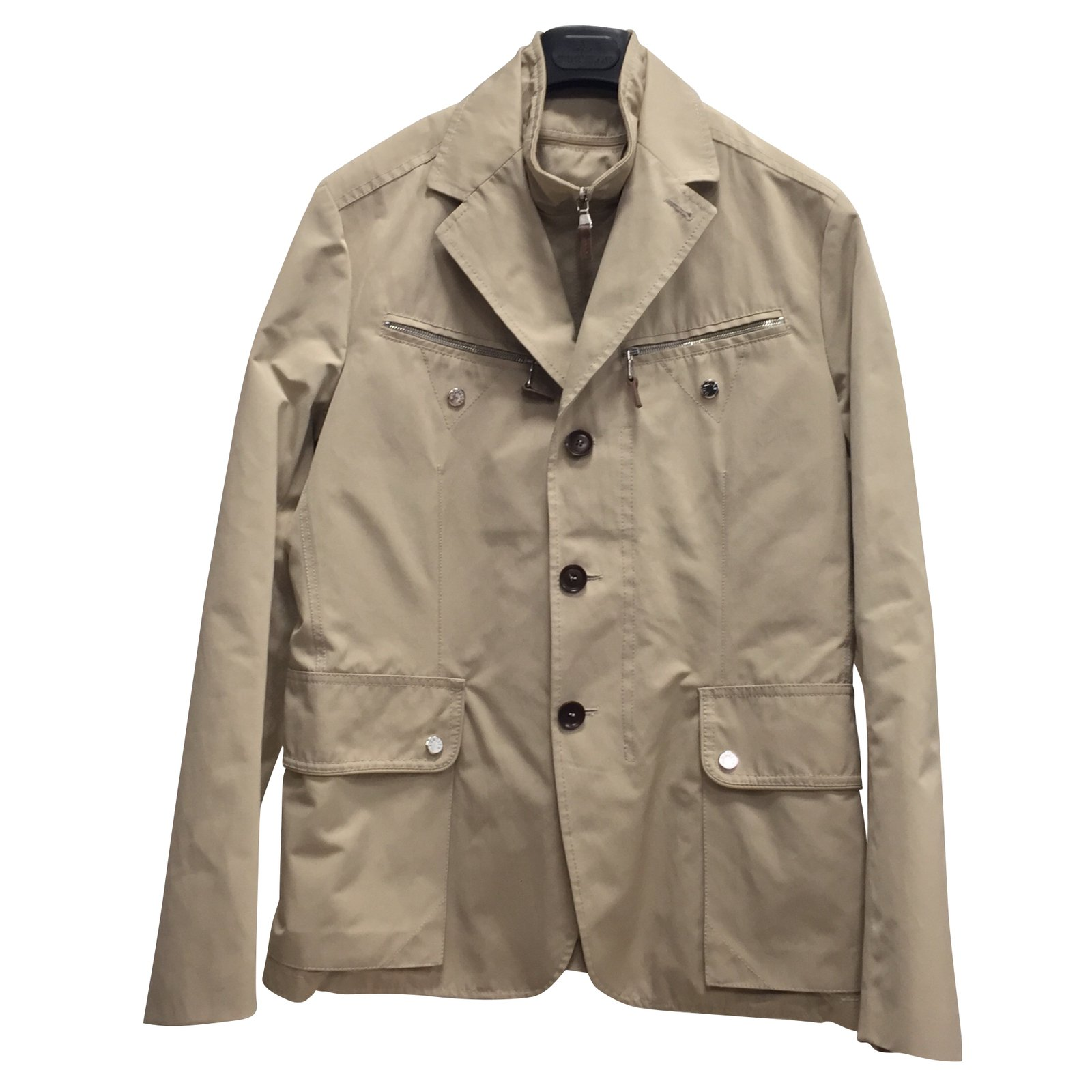 Moncler Blazers Jackets Blazers Jackets Polyester Beige ref.58997
