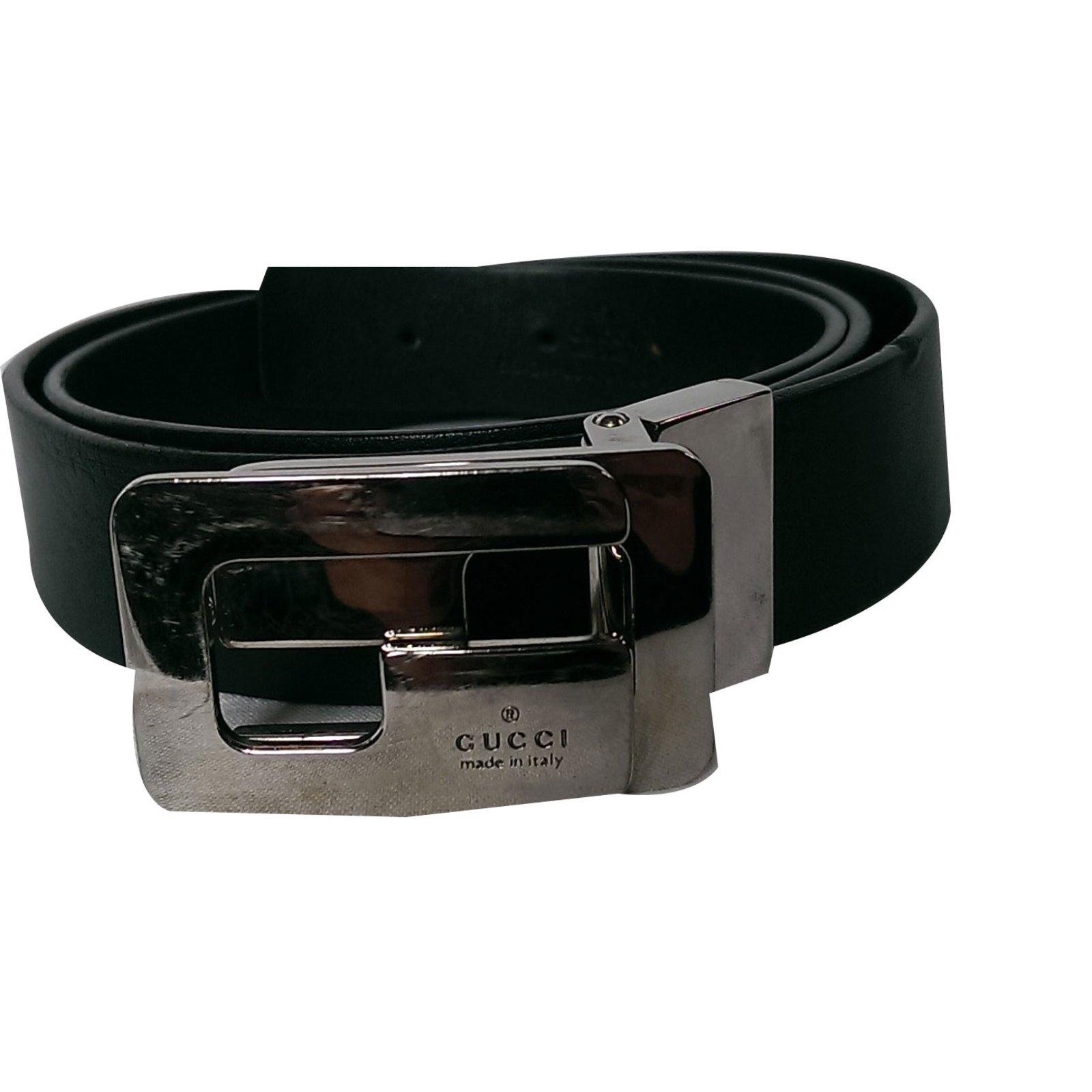gucci mens belt belts leather black ref59026 joli closet