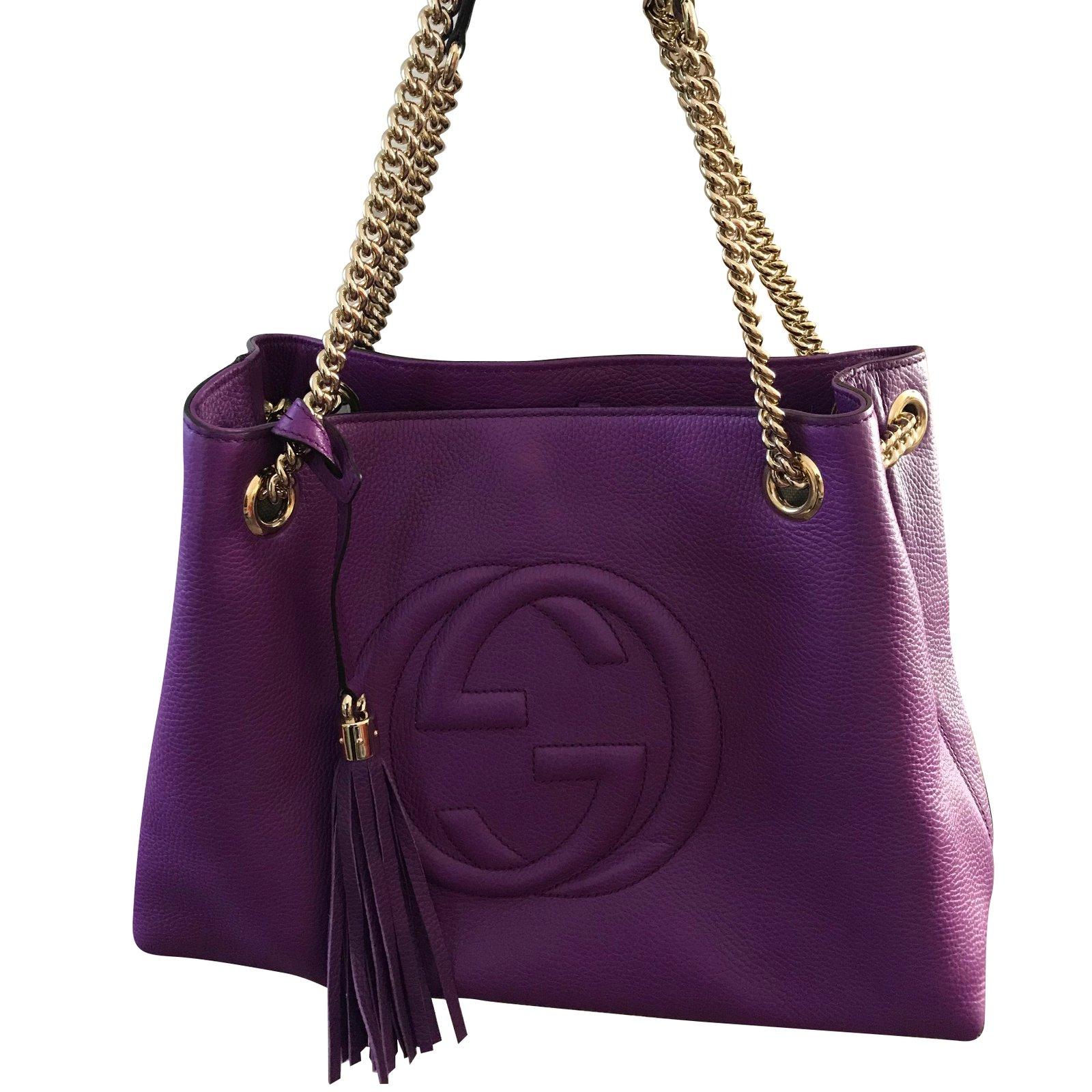 8f601ba3a61 Sacs à main Gucci Sacs à main Cuir Violet ref.59229 - Joli Closet