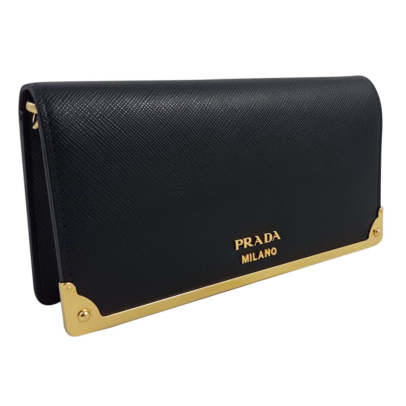 1a5716597df ... promo code for prada prada wallet on chain purses wallets cases leather  black ref.59353