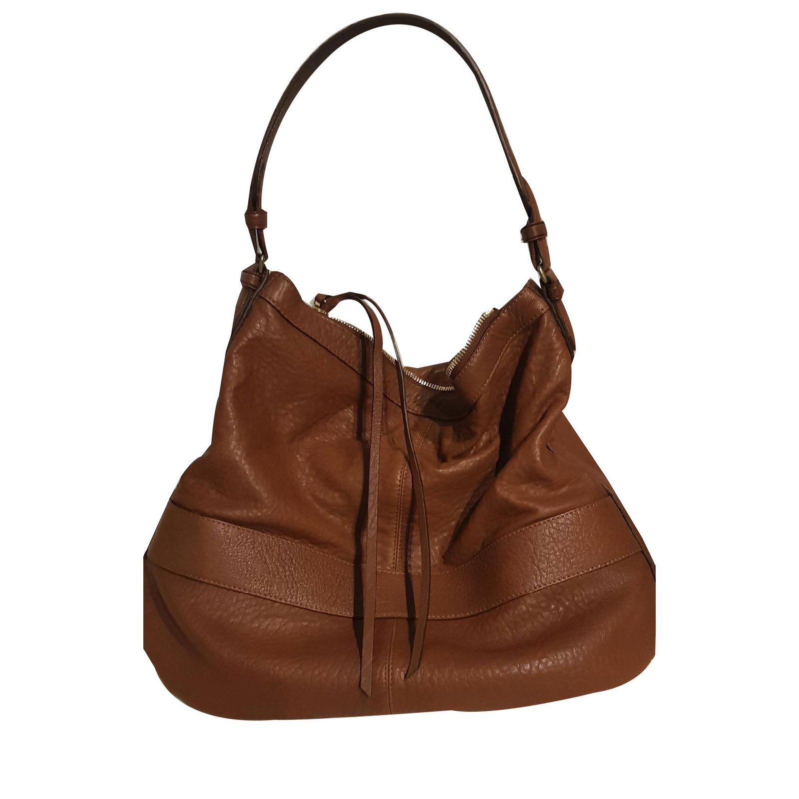 Gerard Darel Handbags Leather Brown Ref 59620