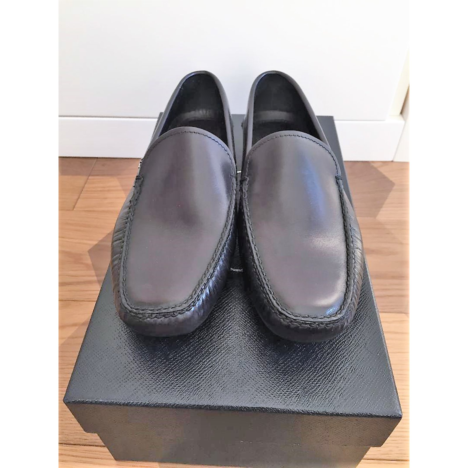 abc396fd66 Prada Men's low loafer Loafers Slip ons Leather Black ref.60323 ...