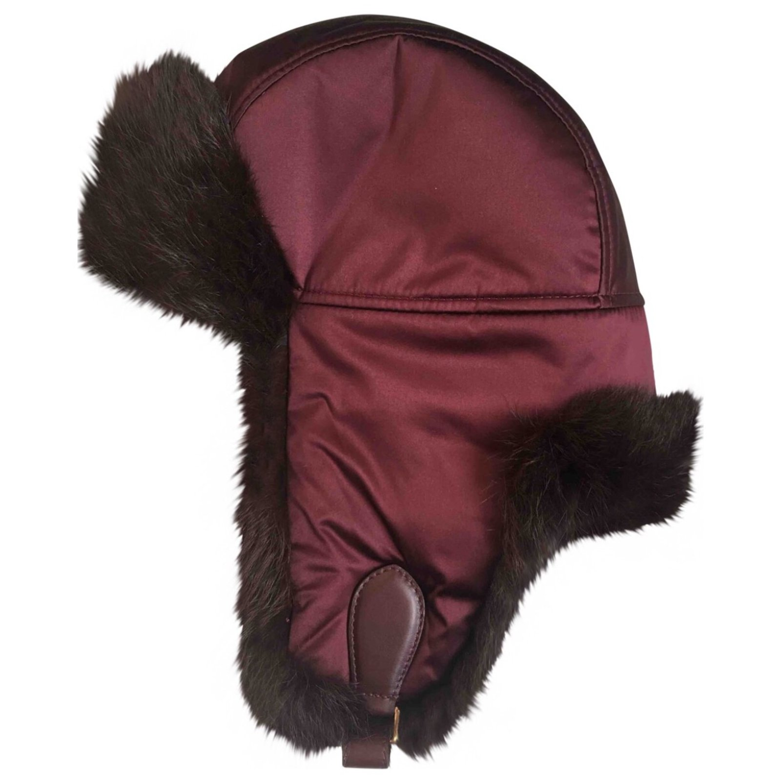 Burberry Hats Hats Fur Dark red ref.60404 - Joli Closet 49f6e693e4d