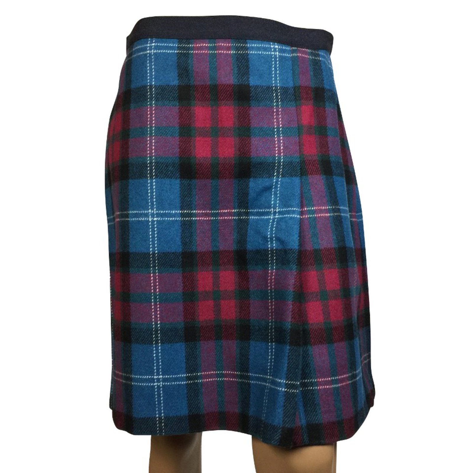 b0d60fdc9 Weekend Max Mara Wrap plaid skirt Skirts Polyester,Wool Black,Blue,Purple  ref