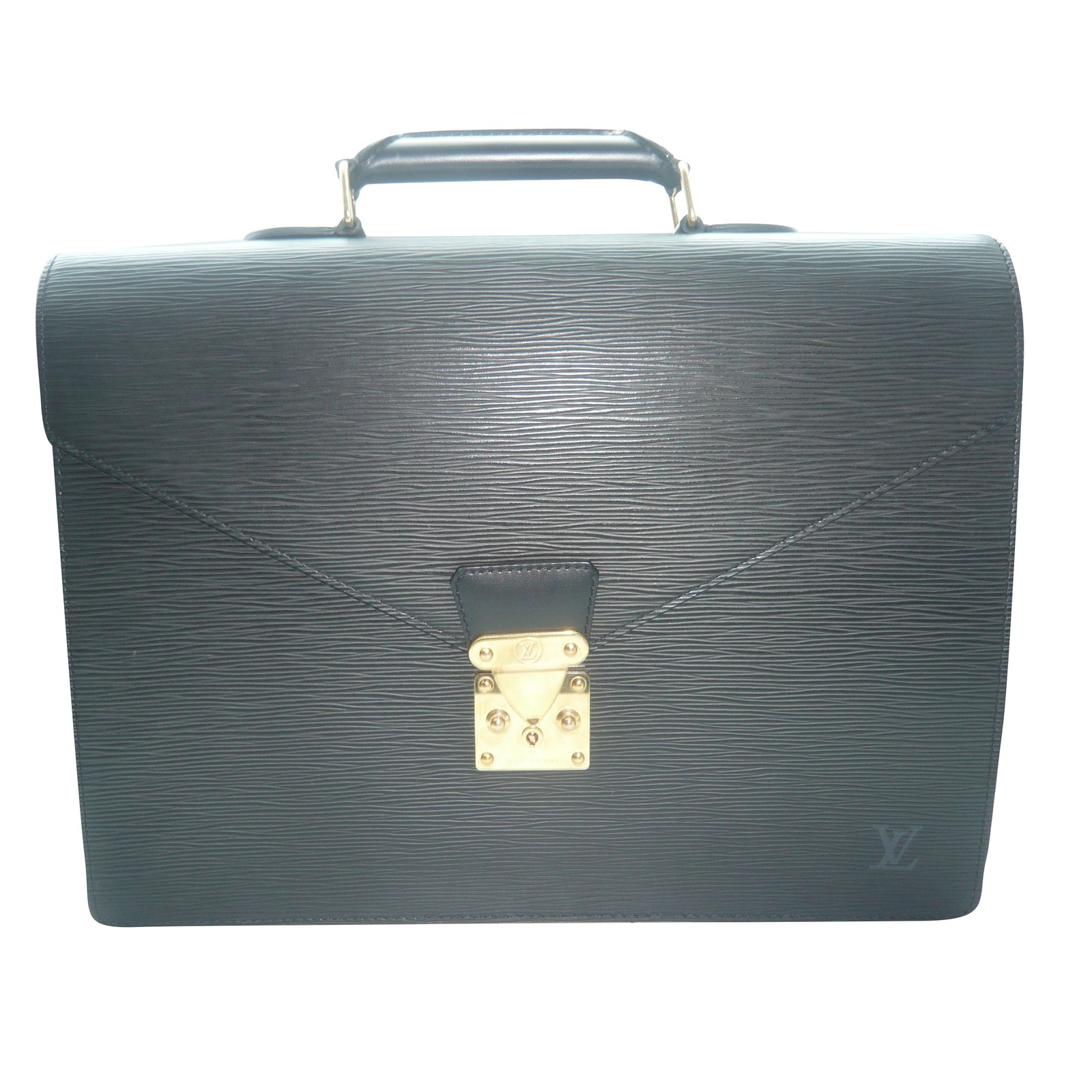 74292feeeeaed Louis Vuitton LOUIS VUITTON ORIGINAL AMBASSADOR BRIEFCASE SERVIETTE  BLACK NOIR LEATHER CUIR EPI
