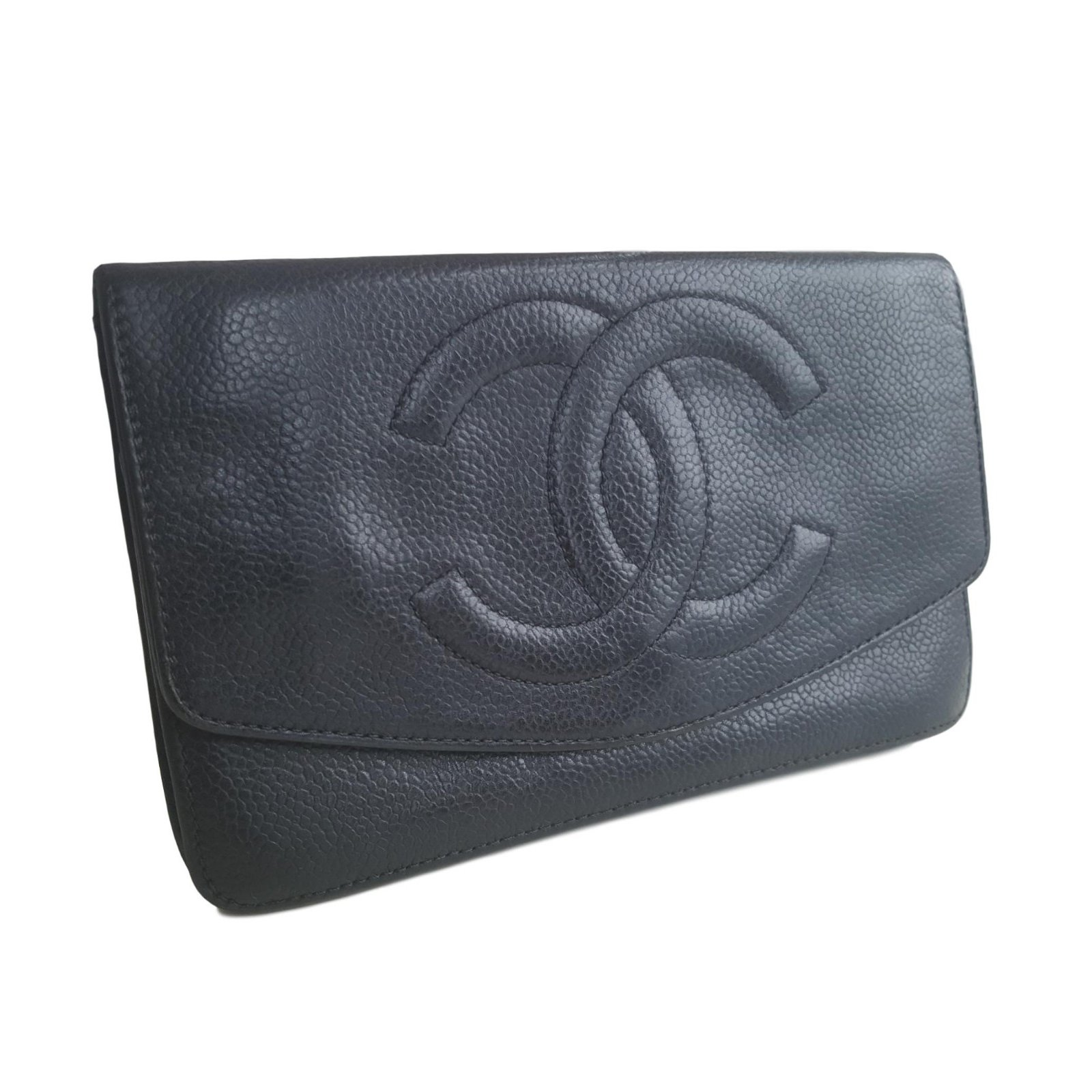 eee0c2b16f1d8f Chanel Wallets Wallets Leather Black ref.60702 - Joli Closet