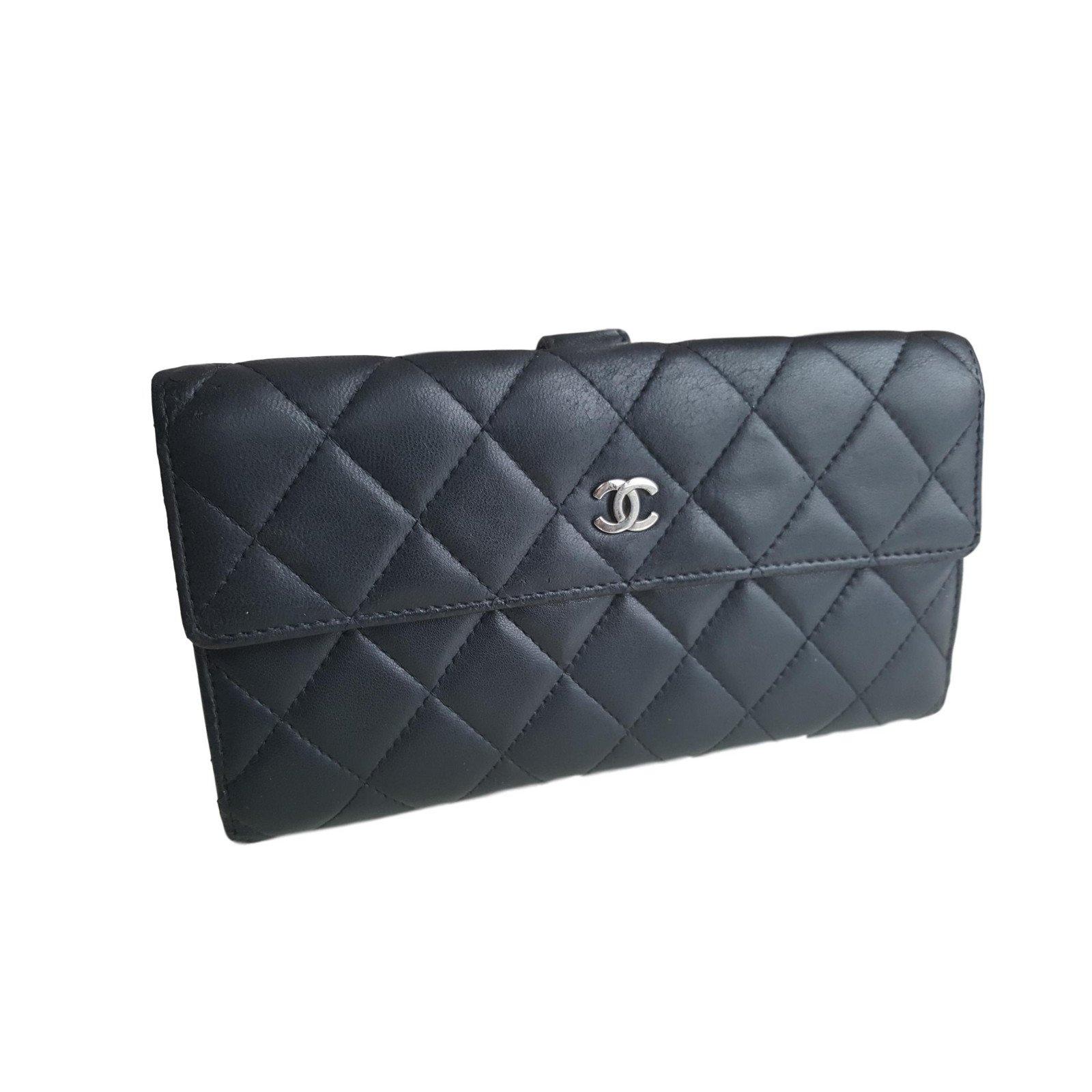 ef746e2cab5f Portefeuilles Chanel Portefeuilles Cuir Noir ref.60770 - Joli Closet