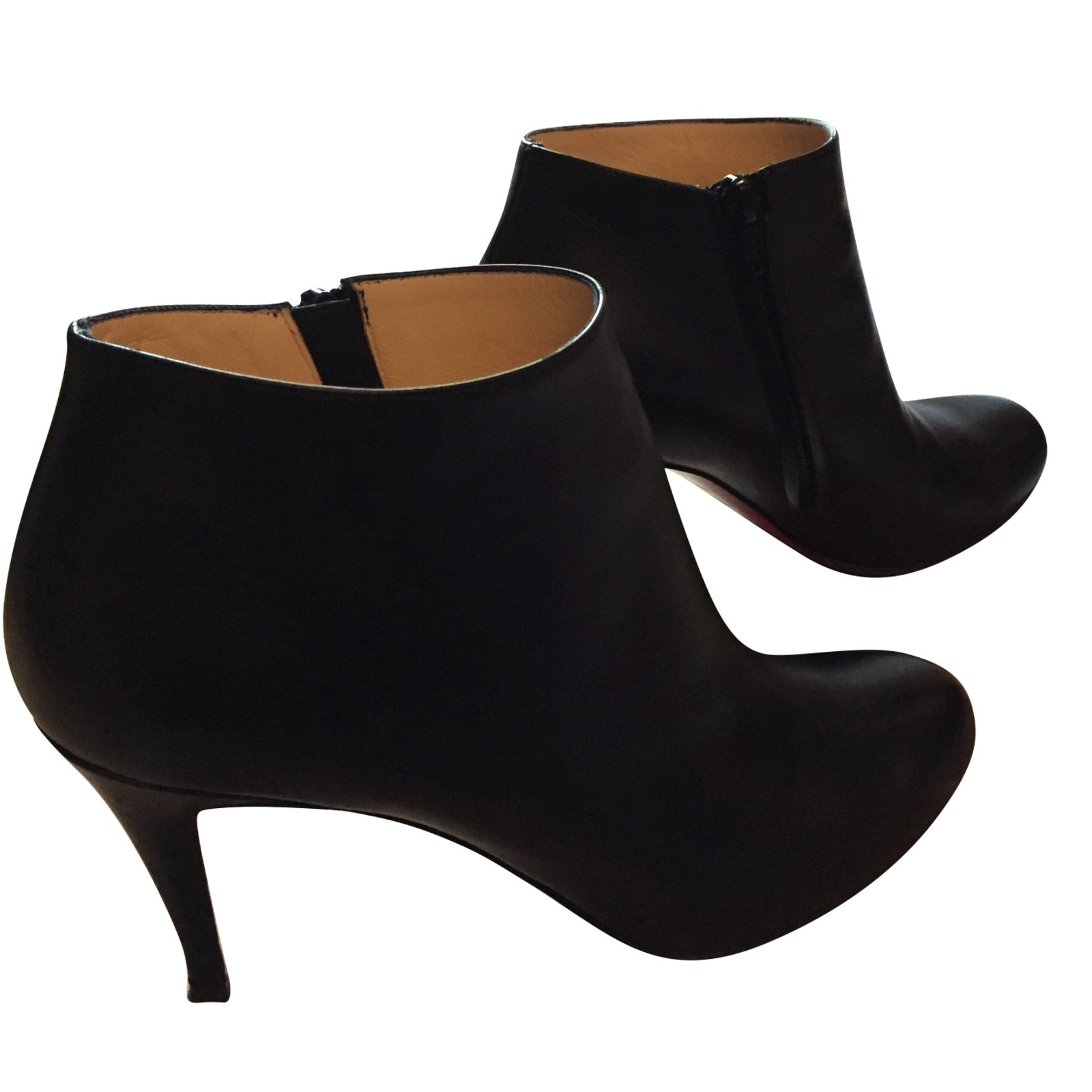 4ee6dc62c983 ... coupon christian louboutin ankle boots ankle boots leather black  ref.60781 1dcba 5e402