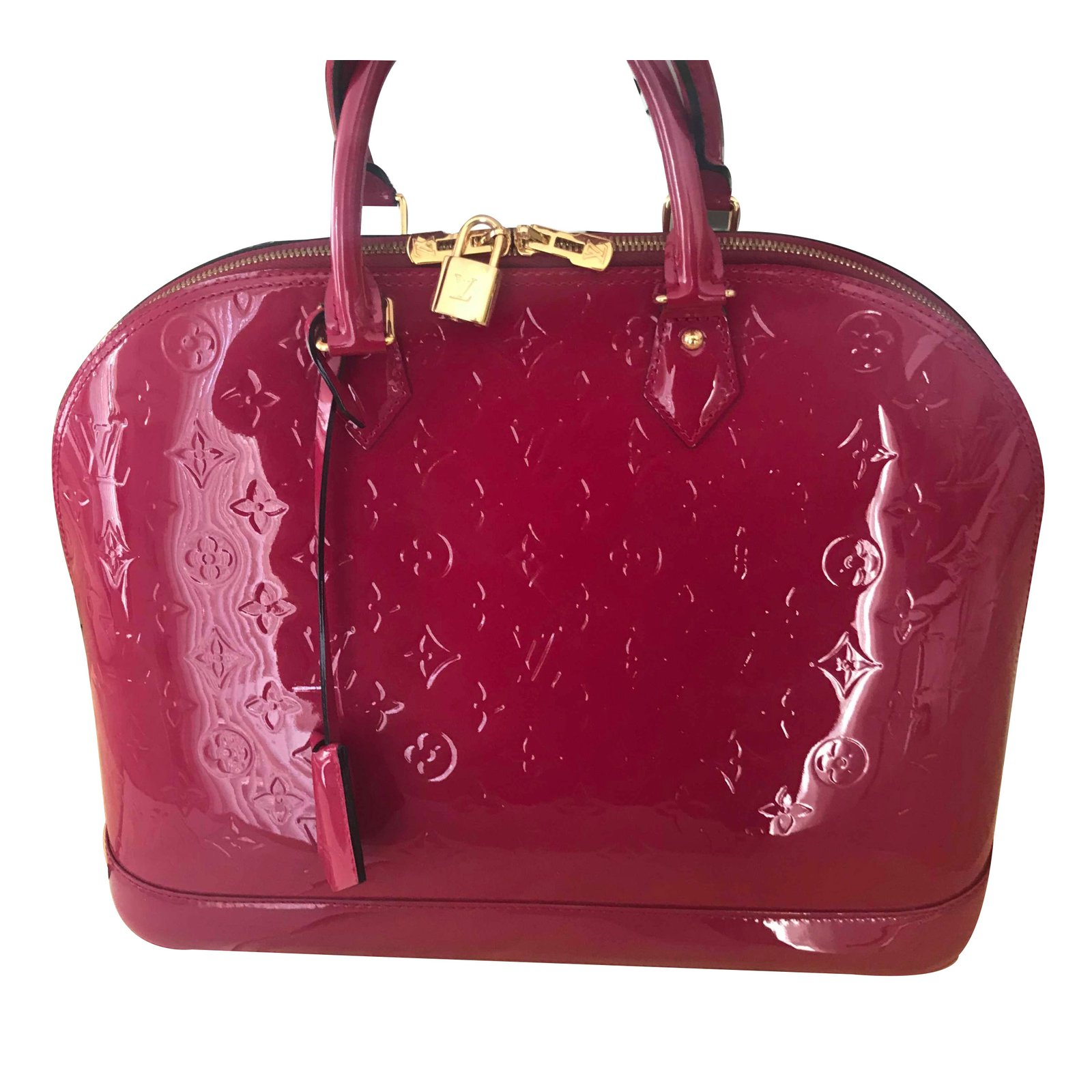 c8594681d732 Louis Vuitton Alma GM and Wallet Handbags Patent leather Pink ref.60819