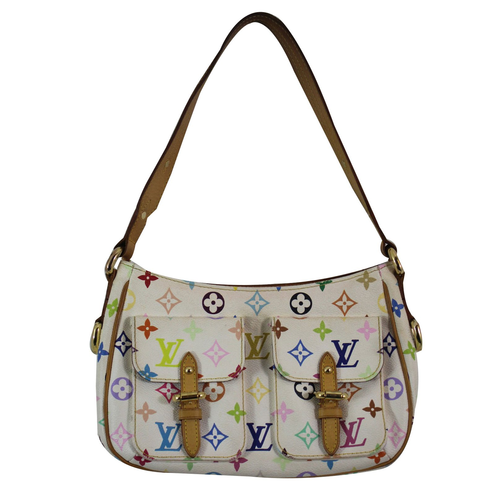 Louis Vuitton Handbag Handbags Suede Leather Multiple Colors Ref 61116