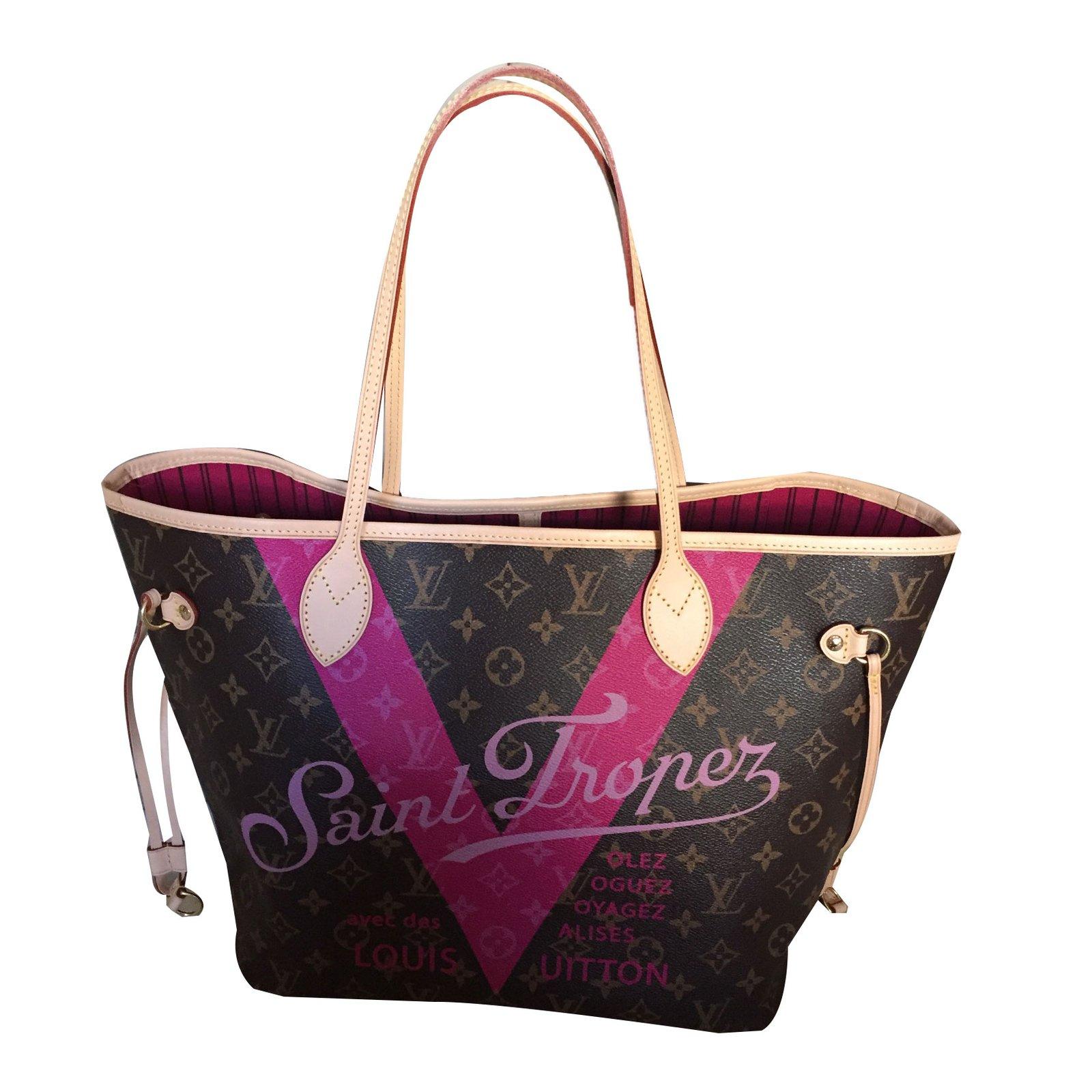 da46ce5a7d95 Louis Vuitton Neverfull MM Limited Edition Saint Tropez Handbags Other  Multiple colors ref.61155