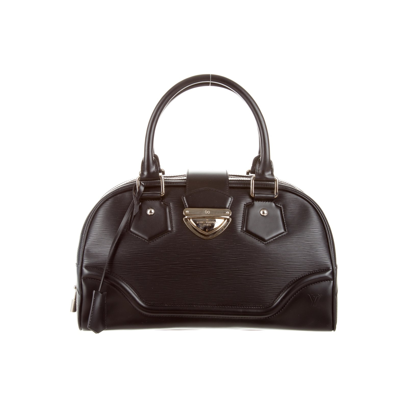 Louis Vuitton Montaigne Gm Epi Leather Bowling Bag Handbags Black Ref 61160