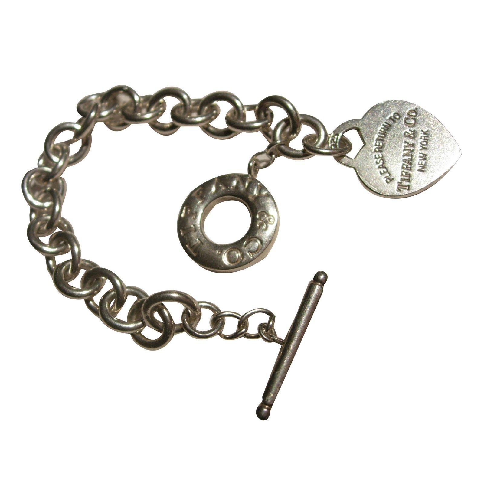 Tiffany Co Bracelets Silver Silvery Ref 61444