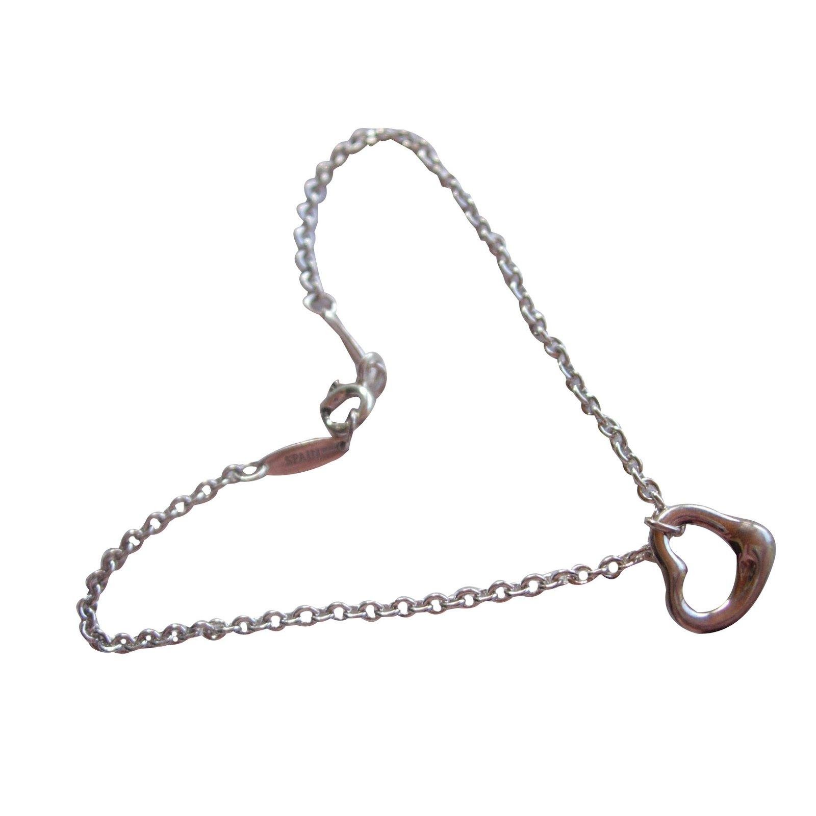 Bracelets Tiffany \u0026 Co Bracelet Coeur Ouvert en argent 925 dessiné par Elsa  Peretti petit poignet