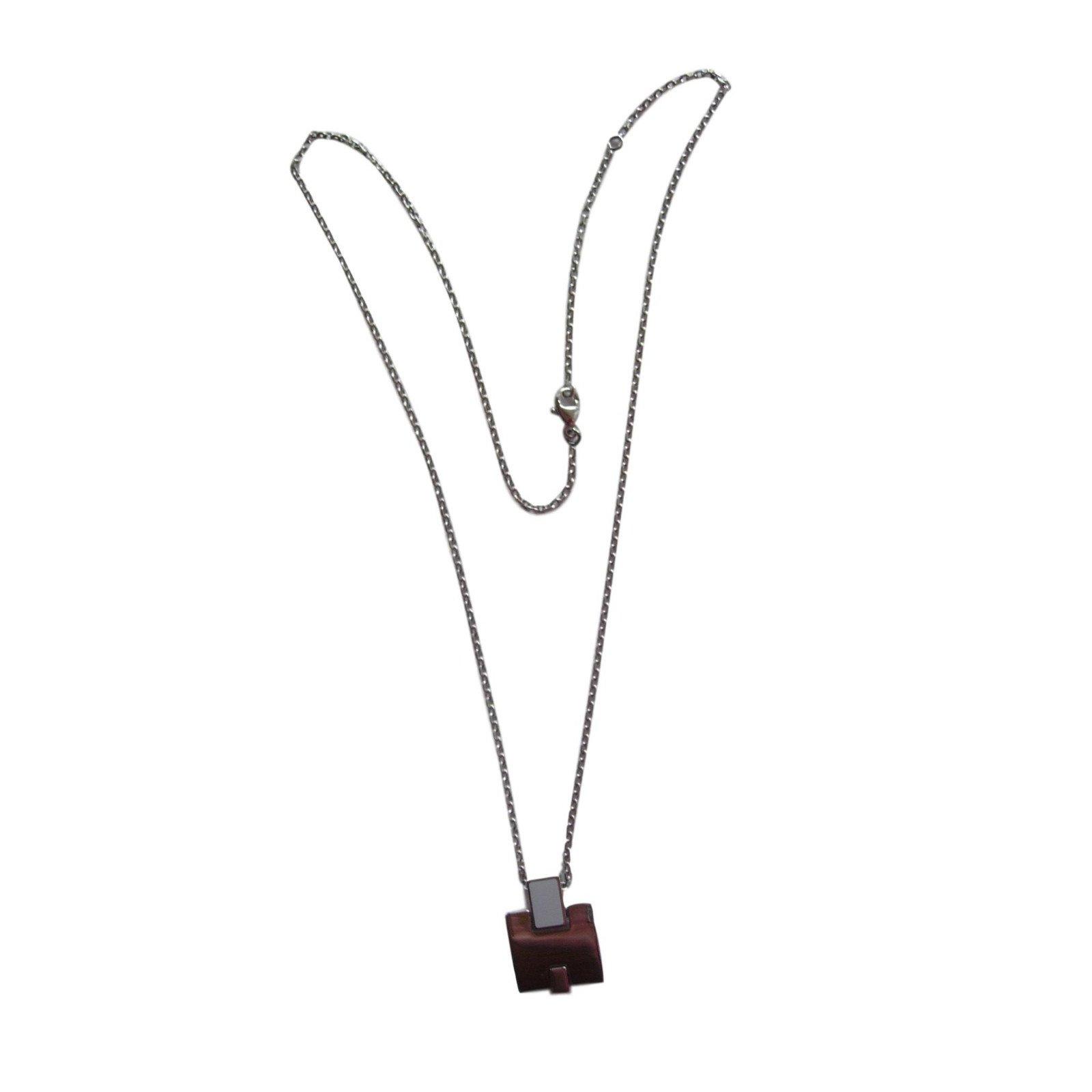 Herms pendant necklaces pendant necklaces steel silvery ref61743 herms pendant necklaces pendant necklaces steel silvery ref61743 aloadofball Gallery