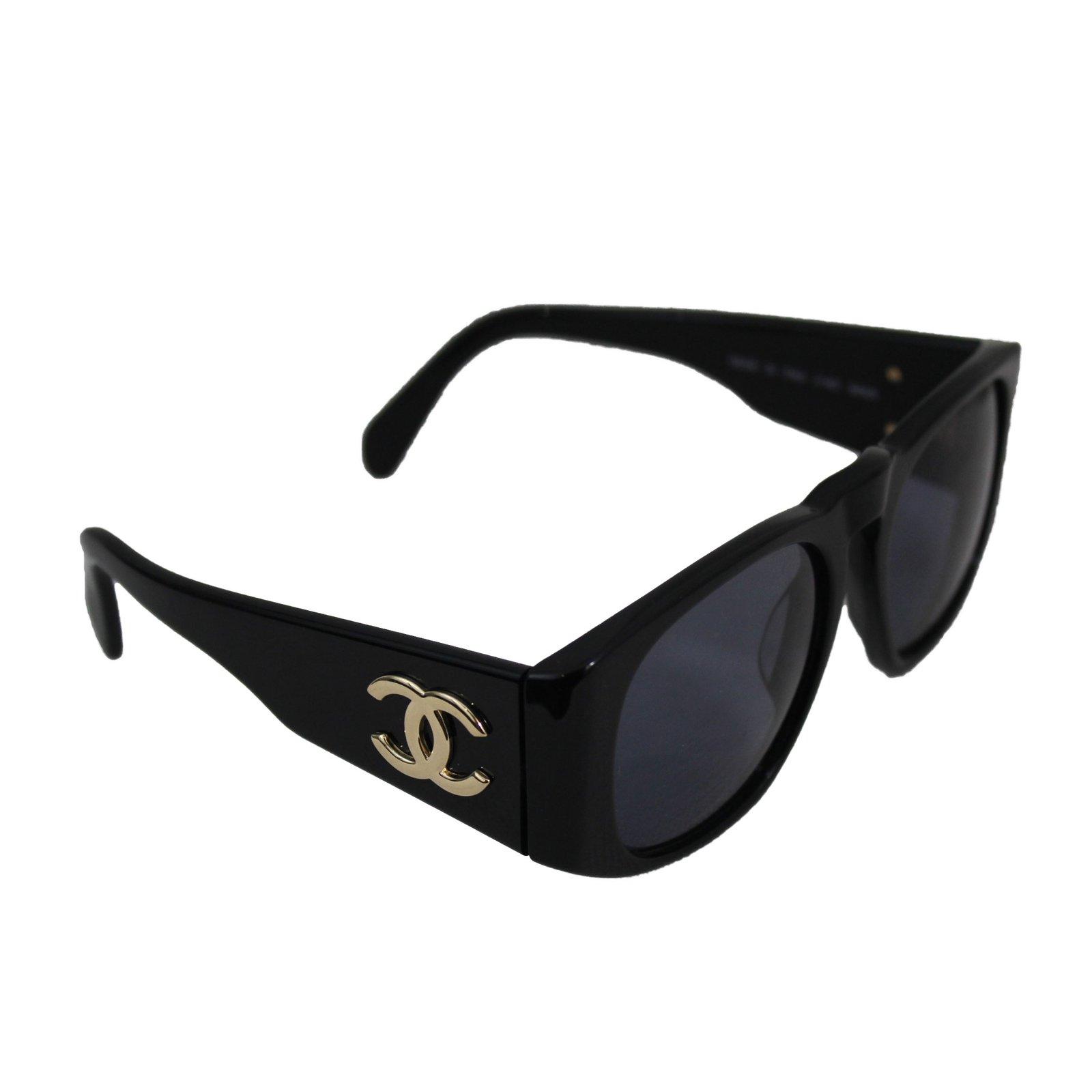 really comfortable best service sale usa online Chanel Sunglasses Sunglasses Plastic Black ref.62108 - Joli ...