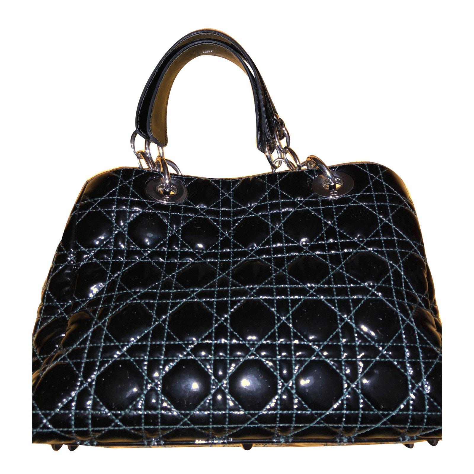 Dior Soft Handbags Patent Leather Black Ref 62110