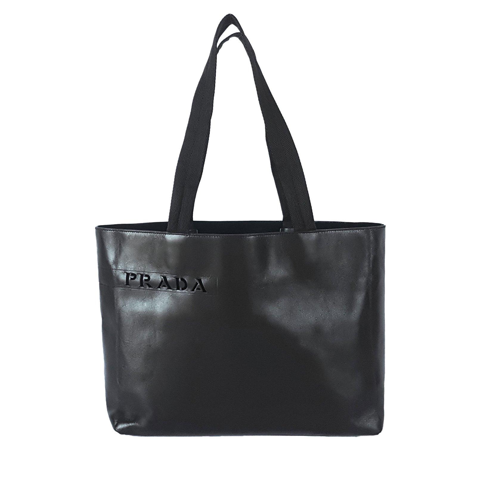 Prada Handbags Leather Olive Green Ref 62183