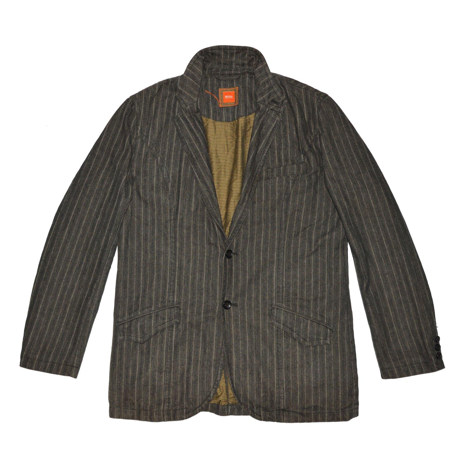 72563ed4a Hugo Boss Blazers Jackets Blazers Jackets Cotton,Polyamide Grey ref.62539