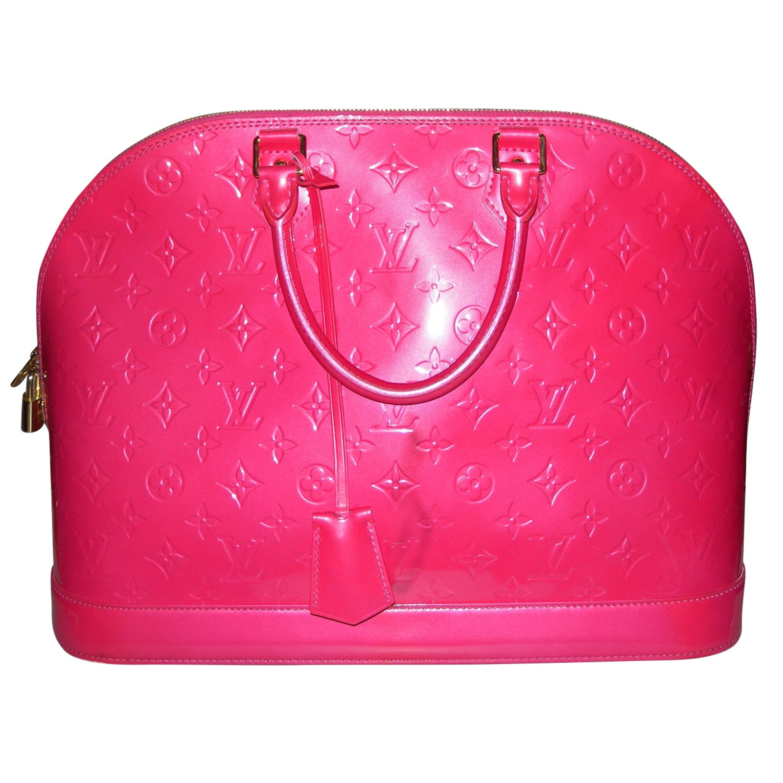 0728aae68a1e Louis Vuitton ALMA GM Handbags Patent leather Pink ref.62724 - Joli ...