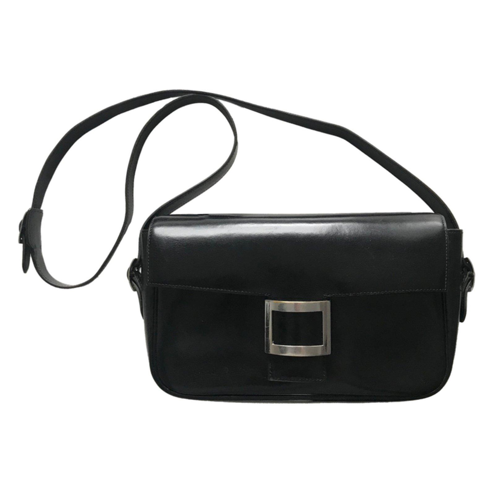 Hermès Martine Shoulder Bag Handbags Leather Black ref.62838