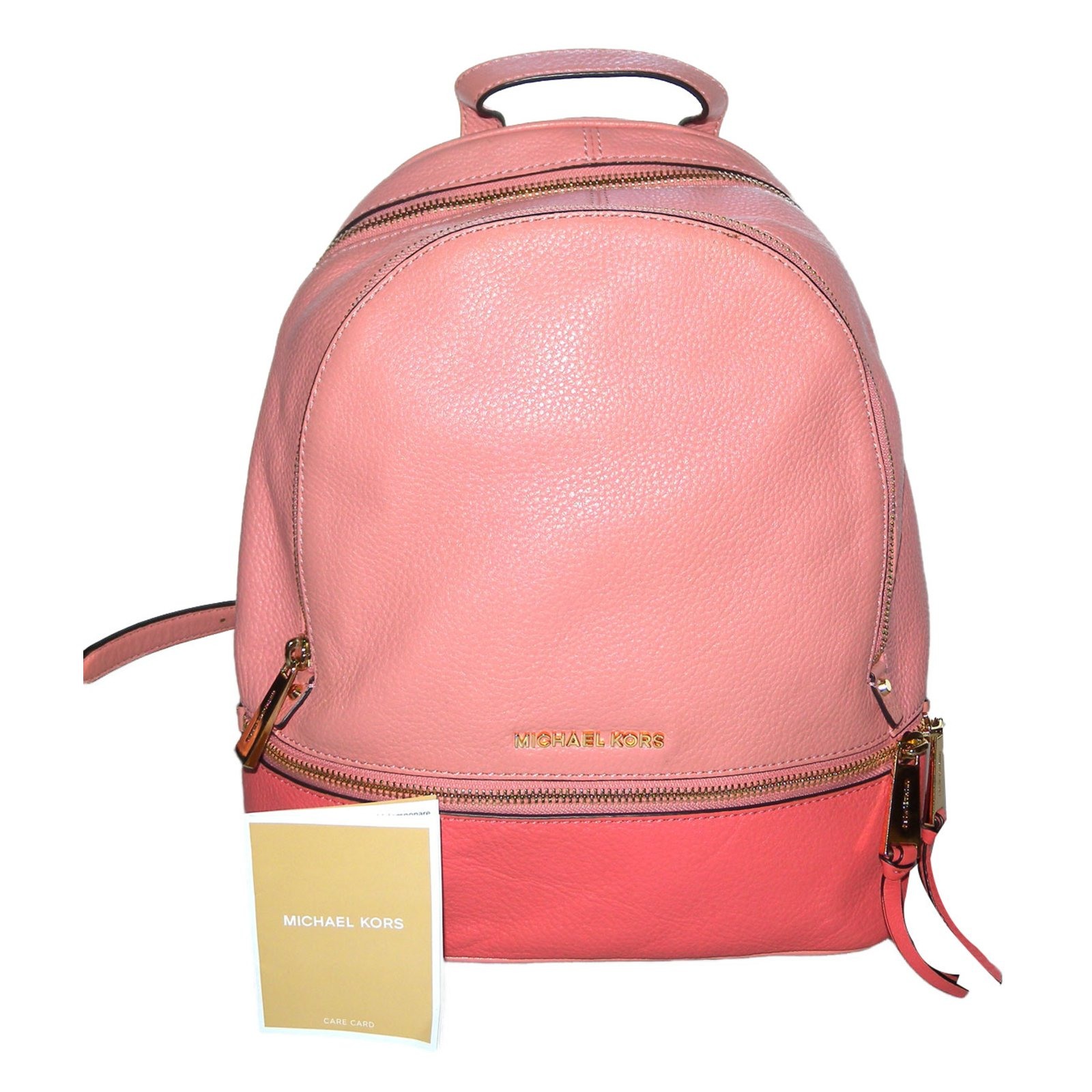 fe03e51e458188 Michael Kors Rhéa Backpacks Backpacks Leather Coral ref.62909 - Joli ...
