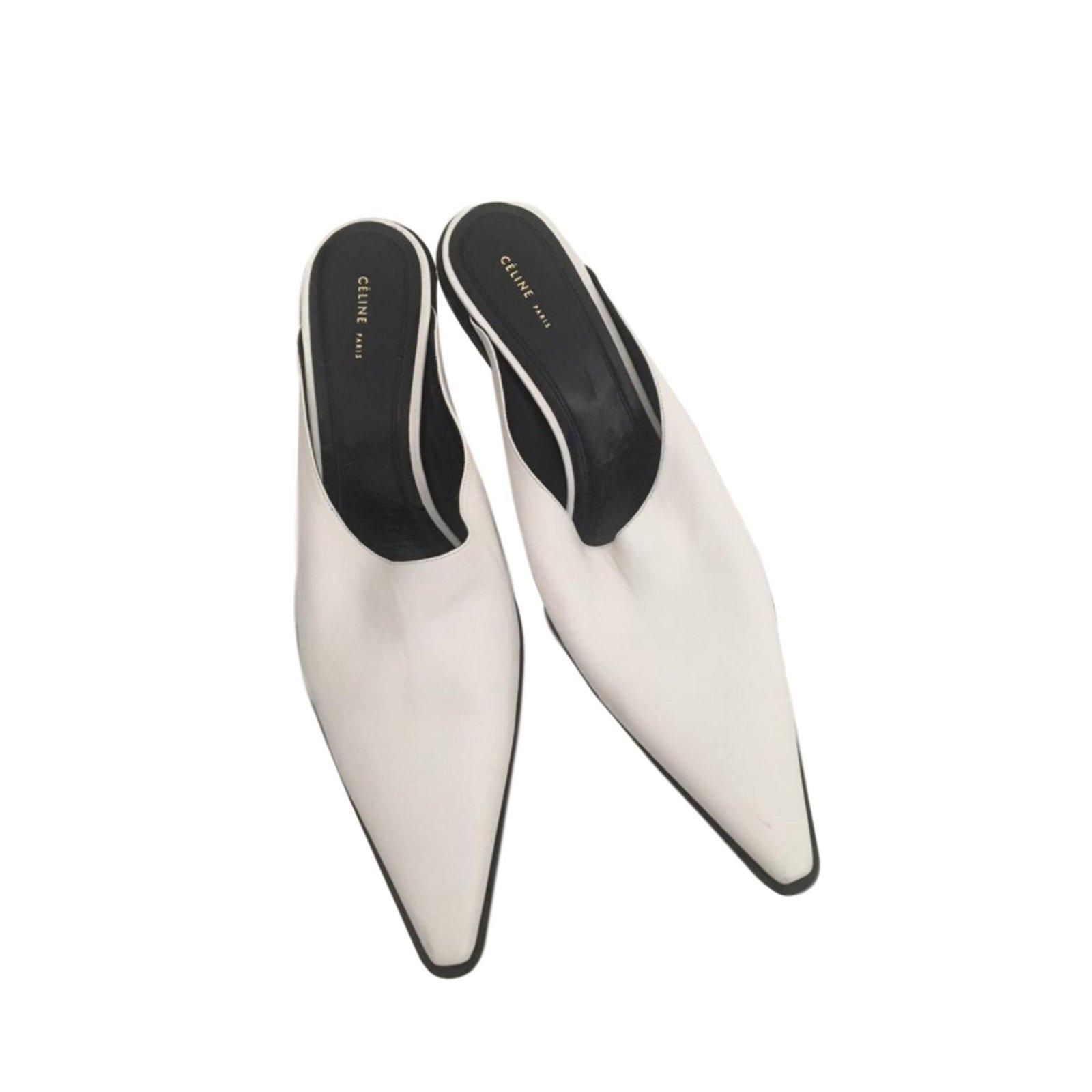 Céline Heels Heels Leather White ref