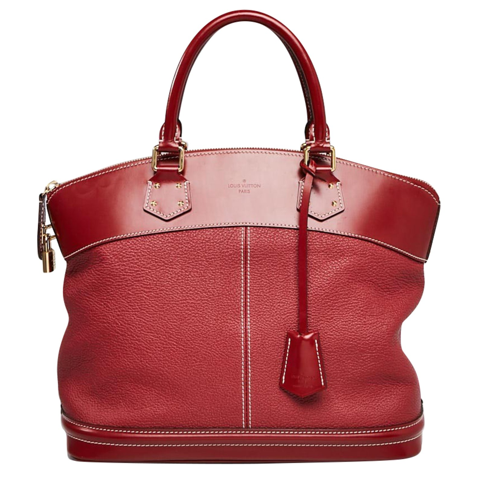 9a36371204903 Louis Vuitton LOUIS VUITTON Tanami Suhali Leather Lockit MM Bag Handbags  Leather Red ref.63149