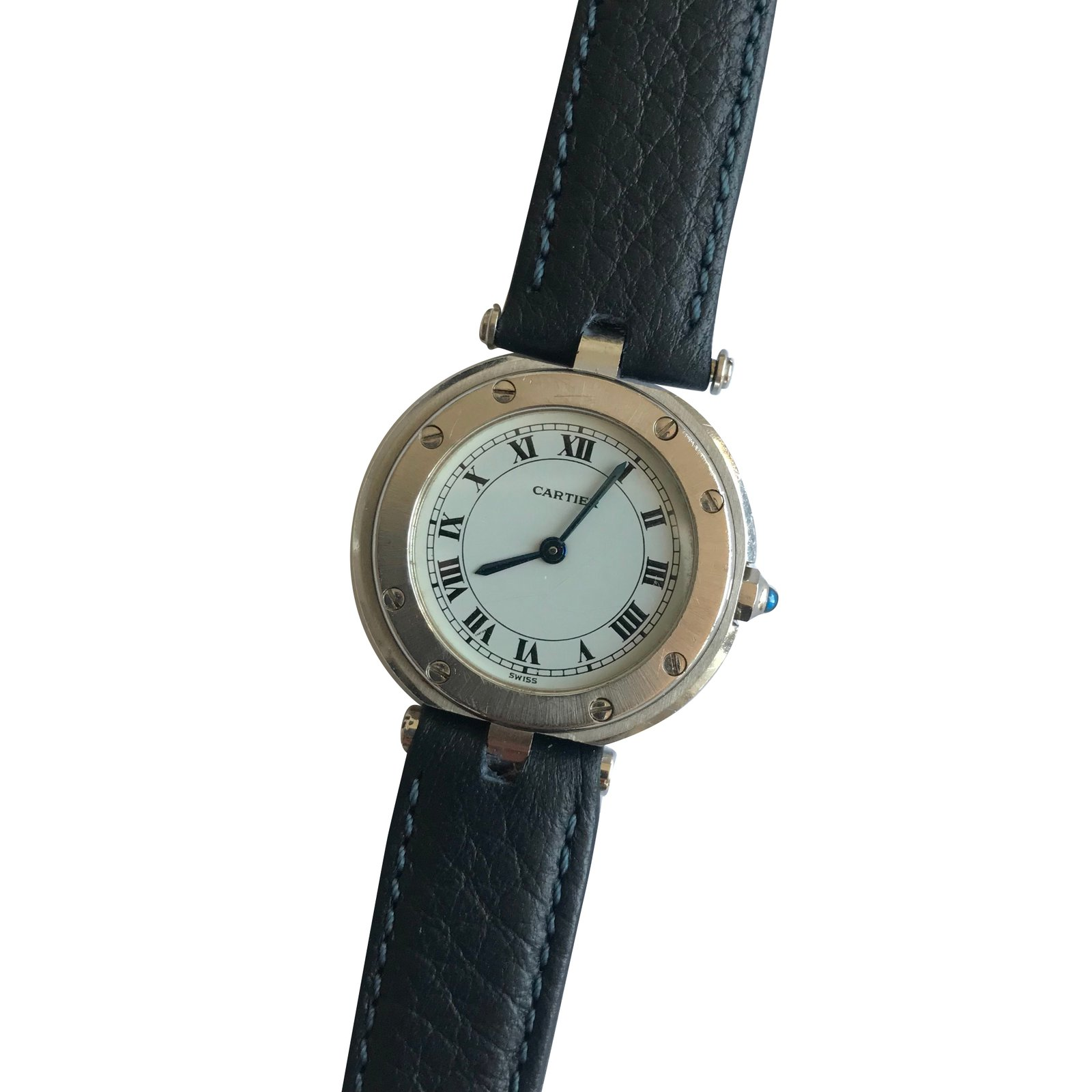 dial berry s image watches white jewellers from watch ladies cartier galbee bracelet steel santos