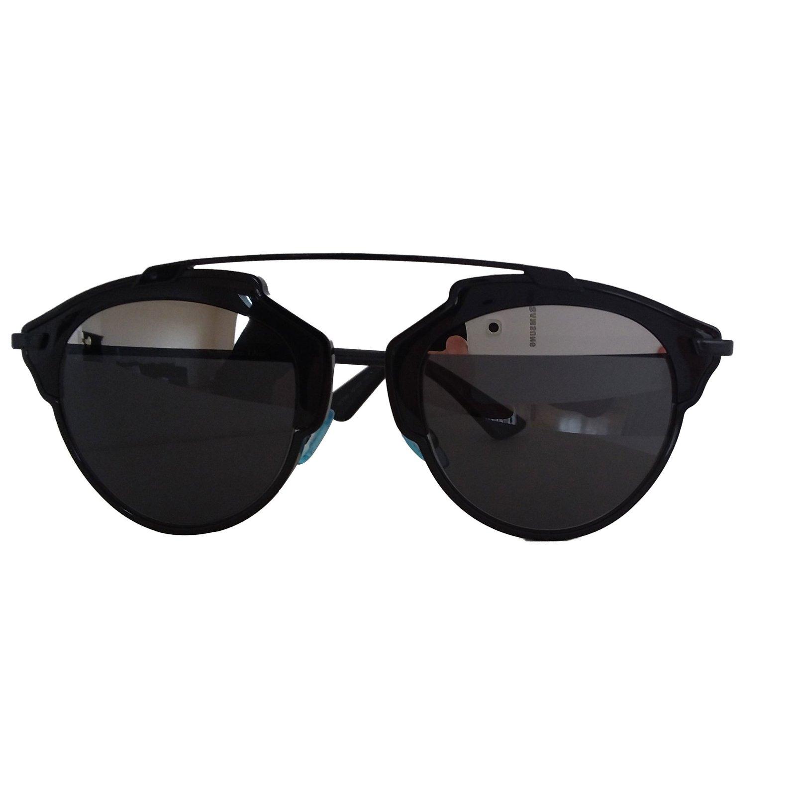 3a7f26383f7278 Lunettes Christian Dior Lunettes Dior Plastique Noir ref.63438 ...